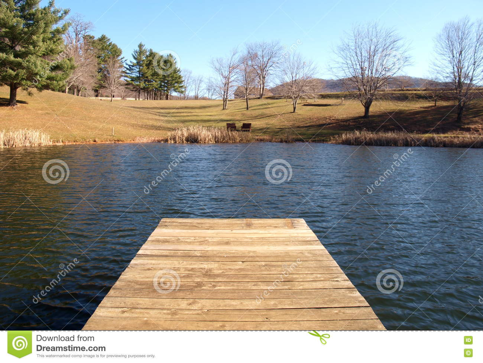 Λίμνη πεστροφών πάρκων Ashe