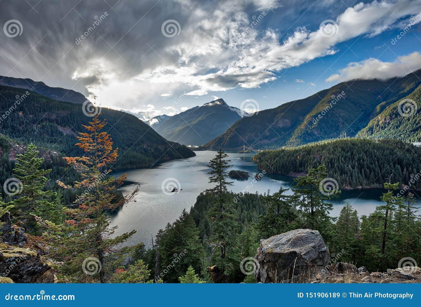 Λίμνη Diablo, εθνικό πάρκο βόρειων καταρρακτών, Ουάσιγκτον, ΗΠΑ