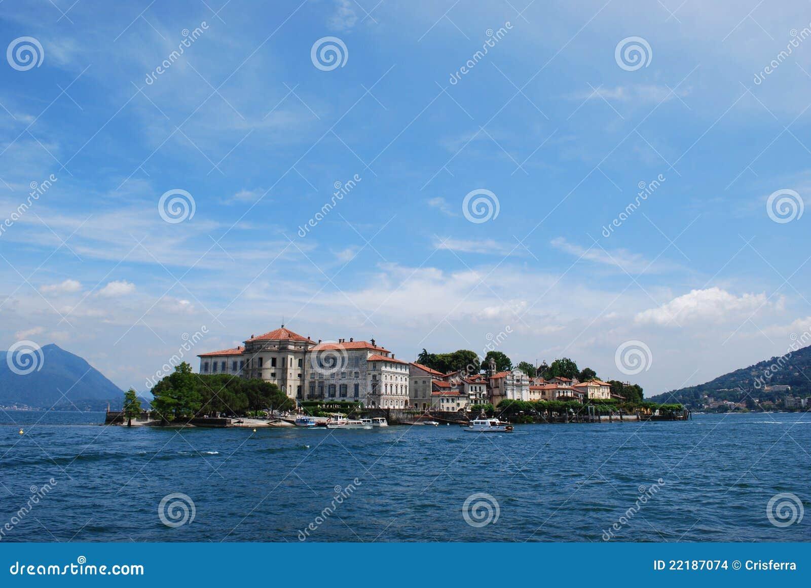 λίμνη isola bella maggiore