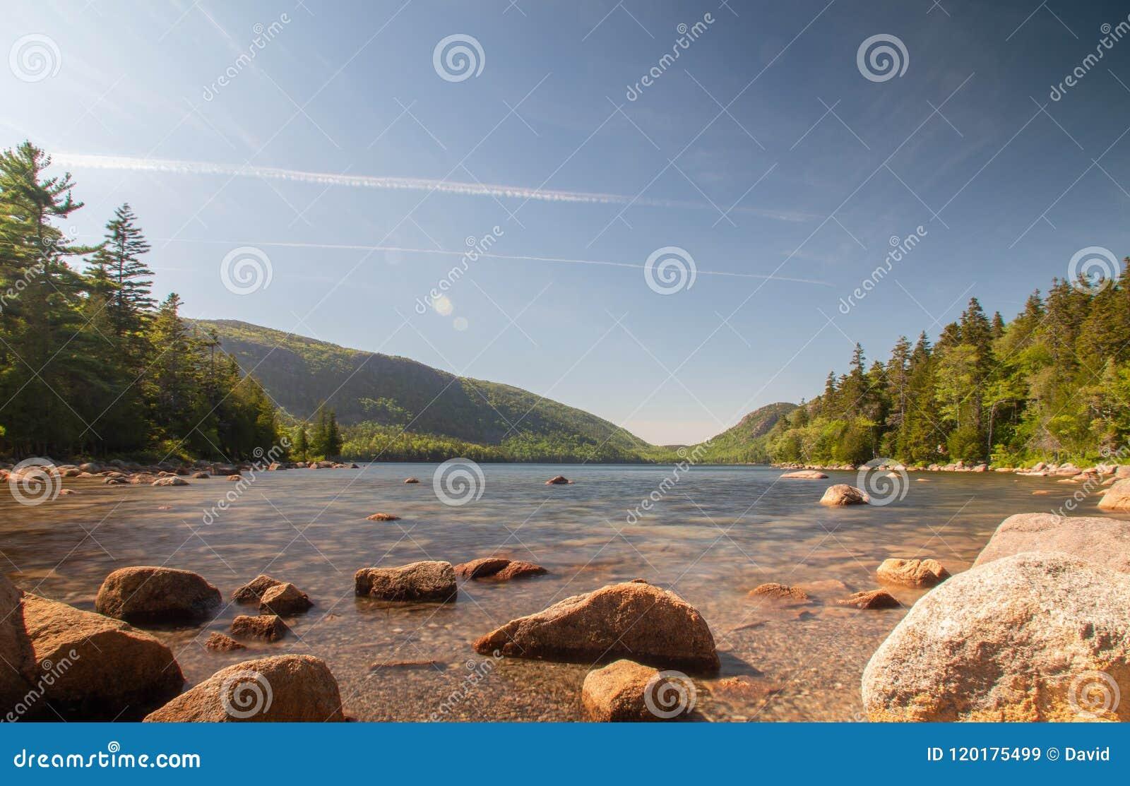 Λίμνη Jordans στο εθνικό πάρκο Acadia