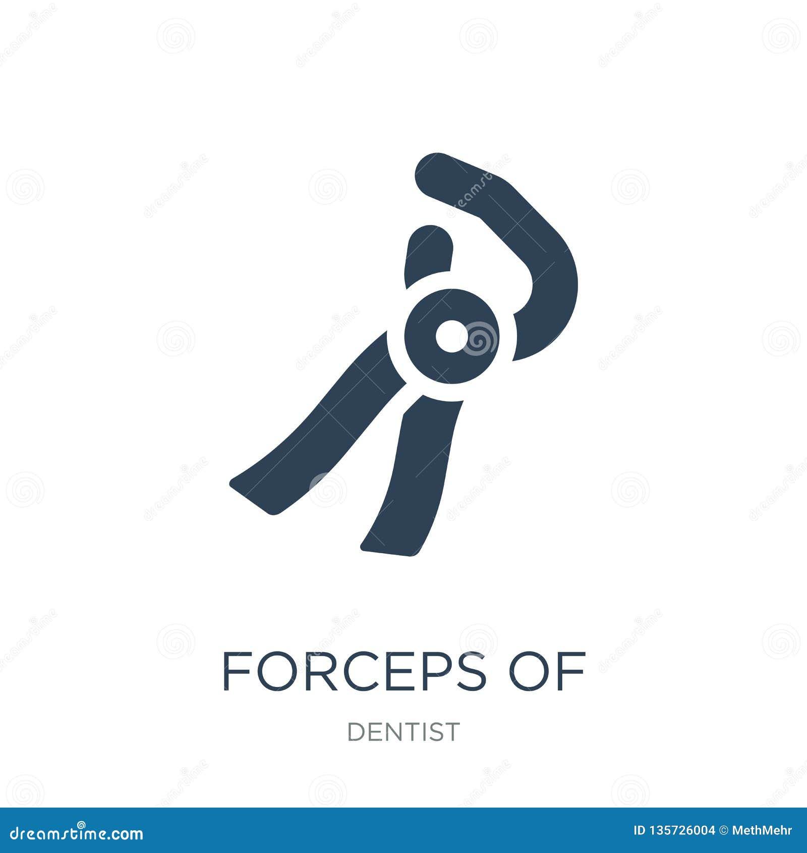 λαβίδες του εικονιδίου εργαλείων οδοντιάτρων στο καθιερώνον τη μόδα ύφος σχεδίου λαβίδες του εικονιδίου εργαλείων οδοντιάτρων που