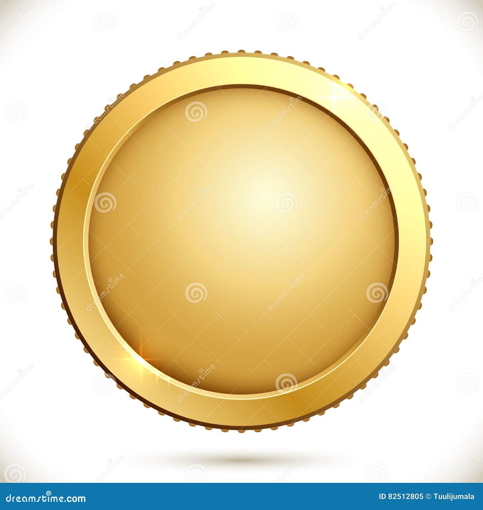 Λαμπρό χρυσό νόμισμα