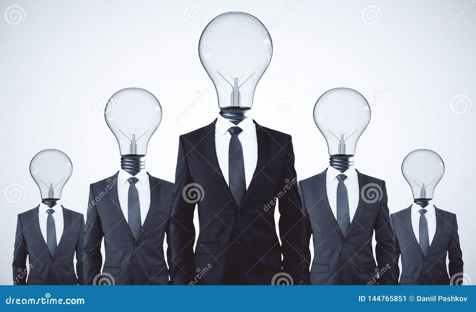 Έννοια ομαδικής εργασίας και ιδέας
