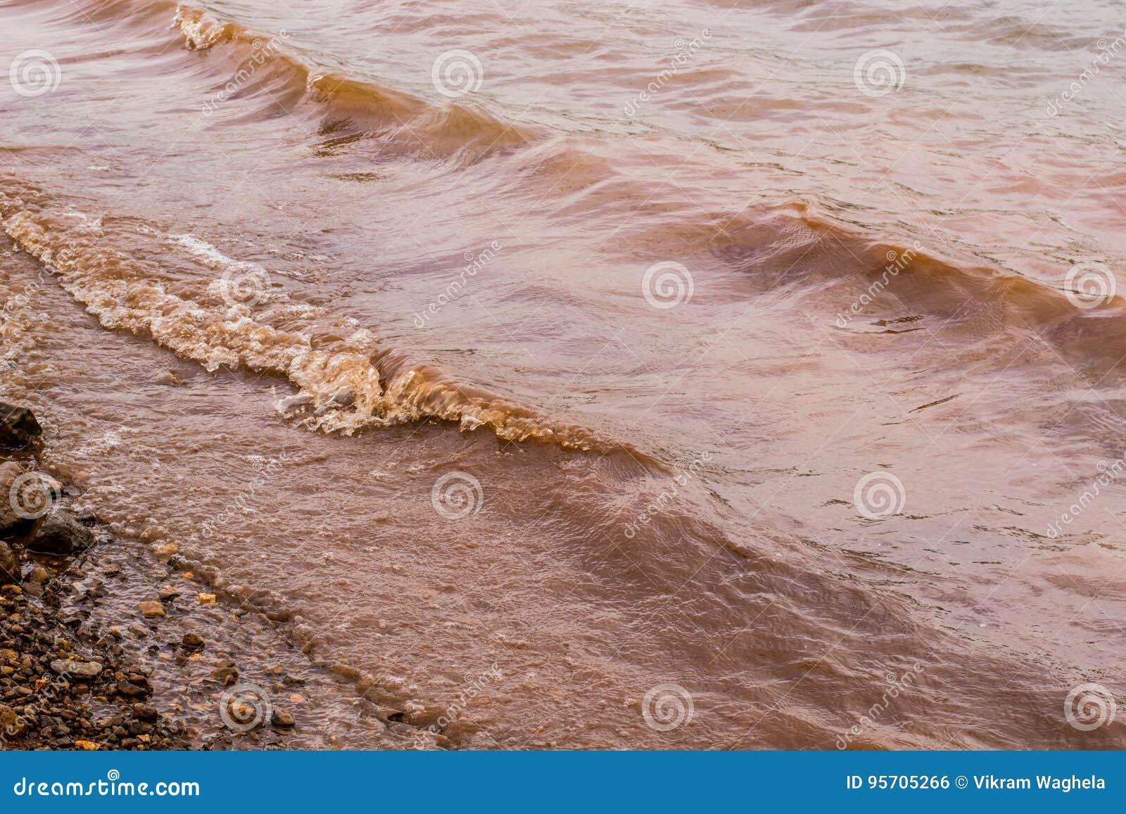 Λασπώδη κύματα νερού Panshet