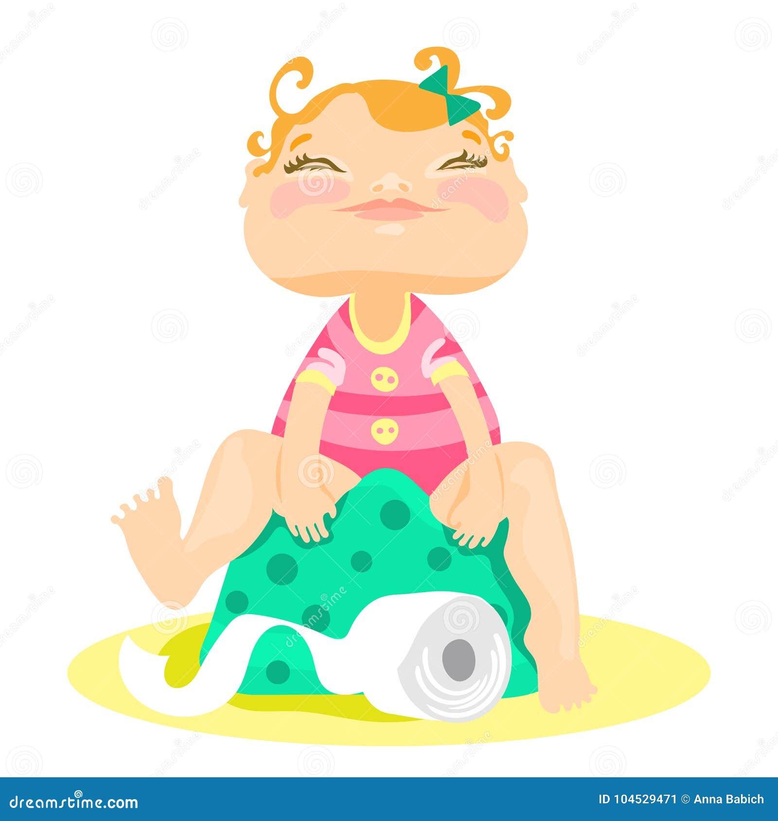Λατρευτή, χαριτωμένη χαμογελασμένη συνεδρίαση κοριτσάκι σε έναν ασήμαντο