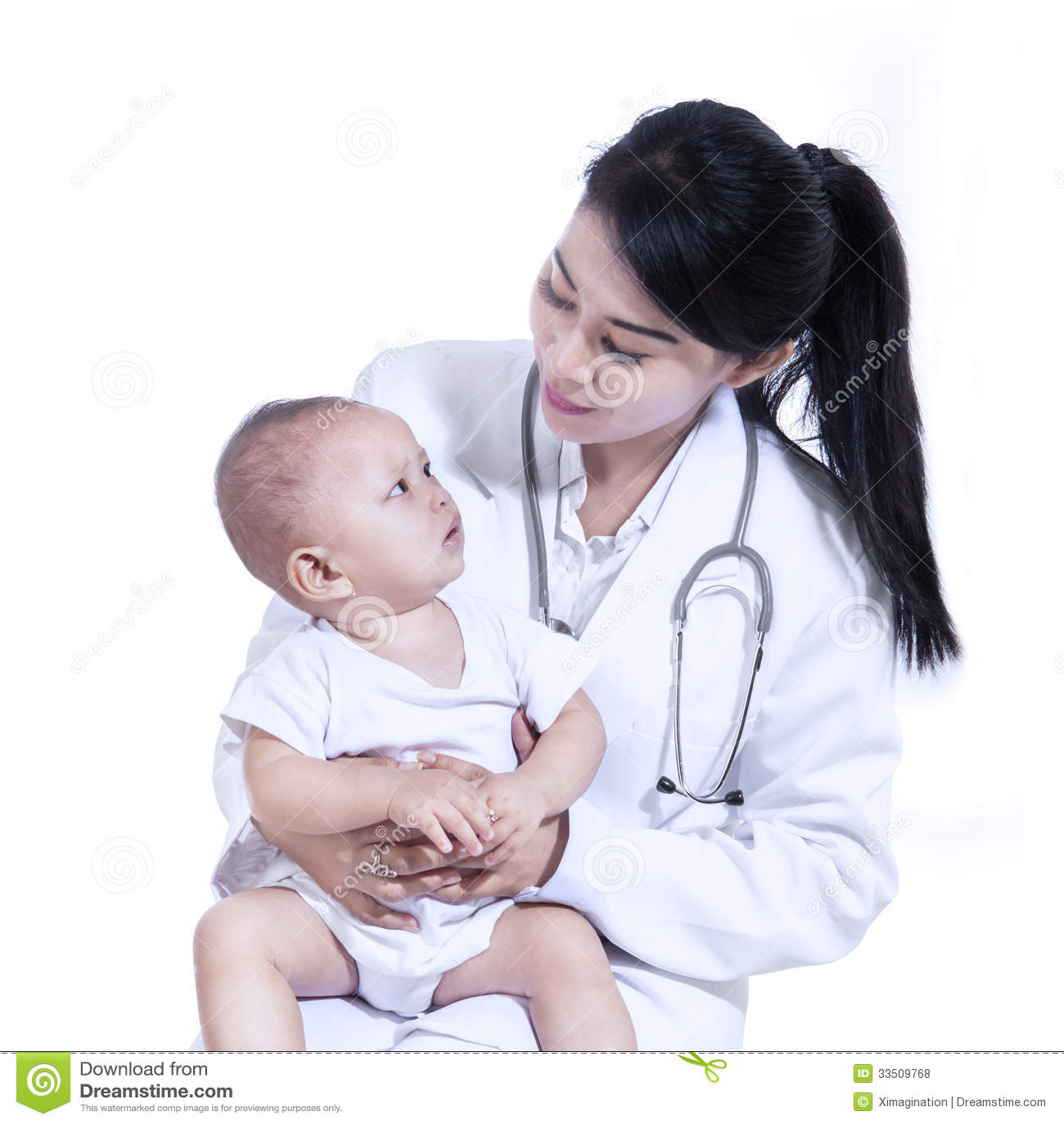 Λατρευτός γιατρός με ένα μωρό στα όπλα της - που απομονώνονται
