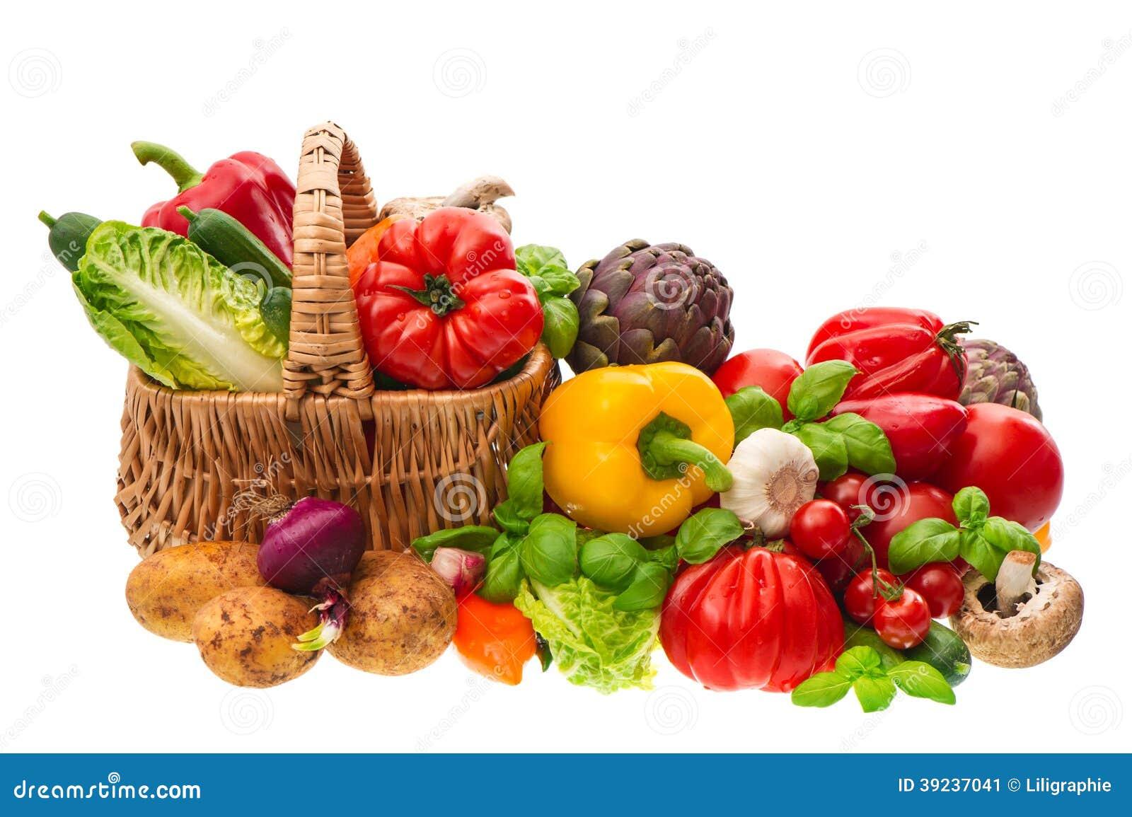 Λαχανικά. καλάθι αγορών. υγιής διατροφή