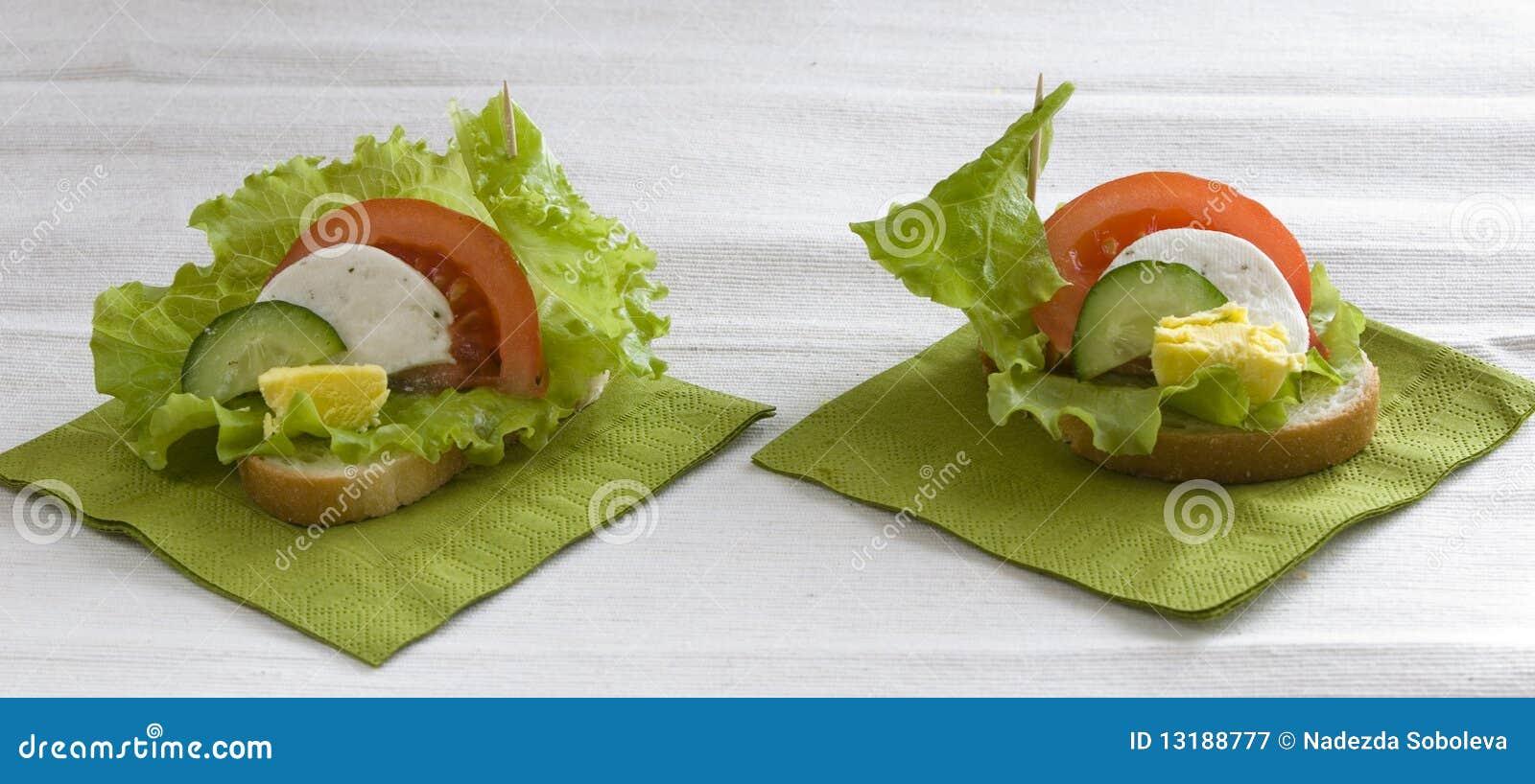 λαχανικά σάντουιτς αυγών