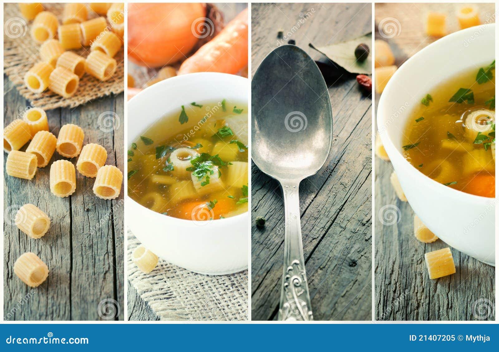 λαχανικό σούπας κολάζ