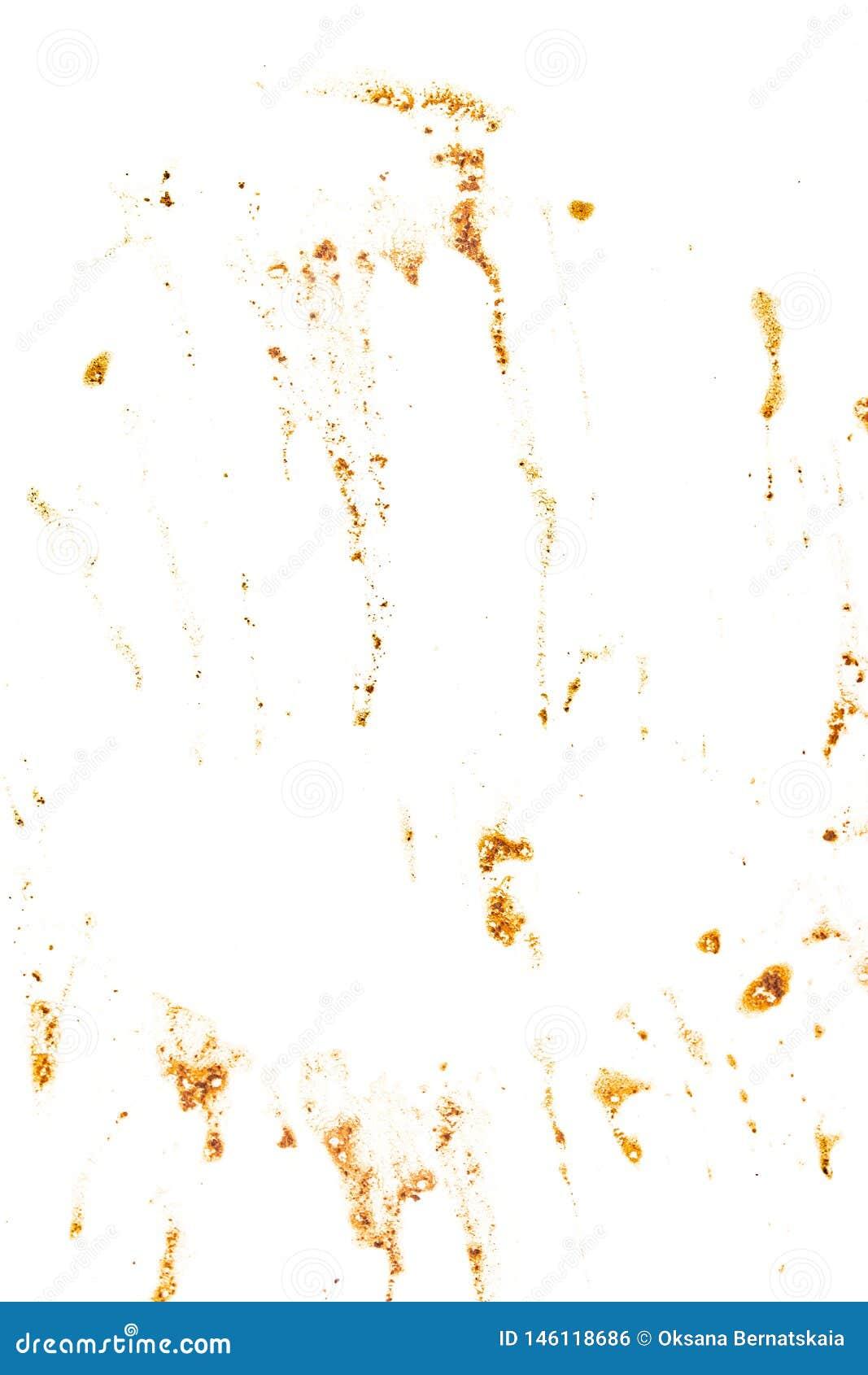 Λεκέδες από τον καφέ σε ένα άσπρο υπόβαθρο