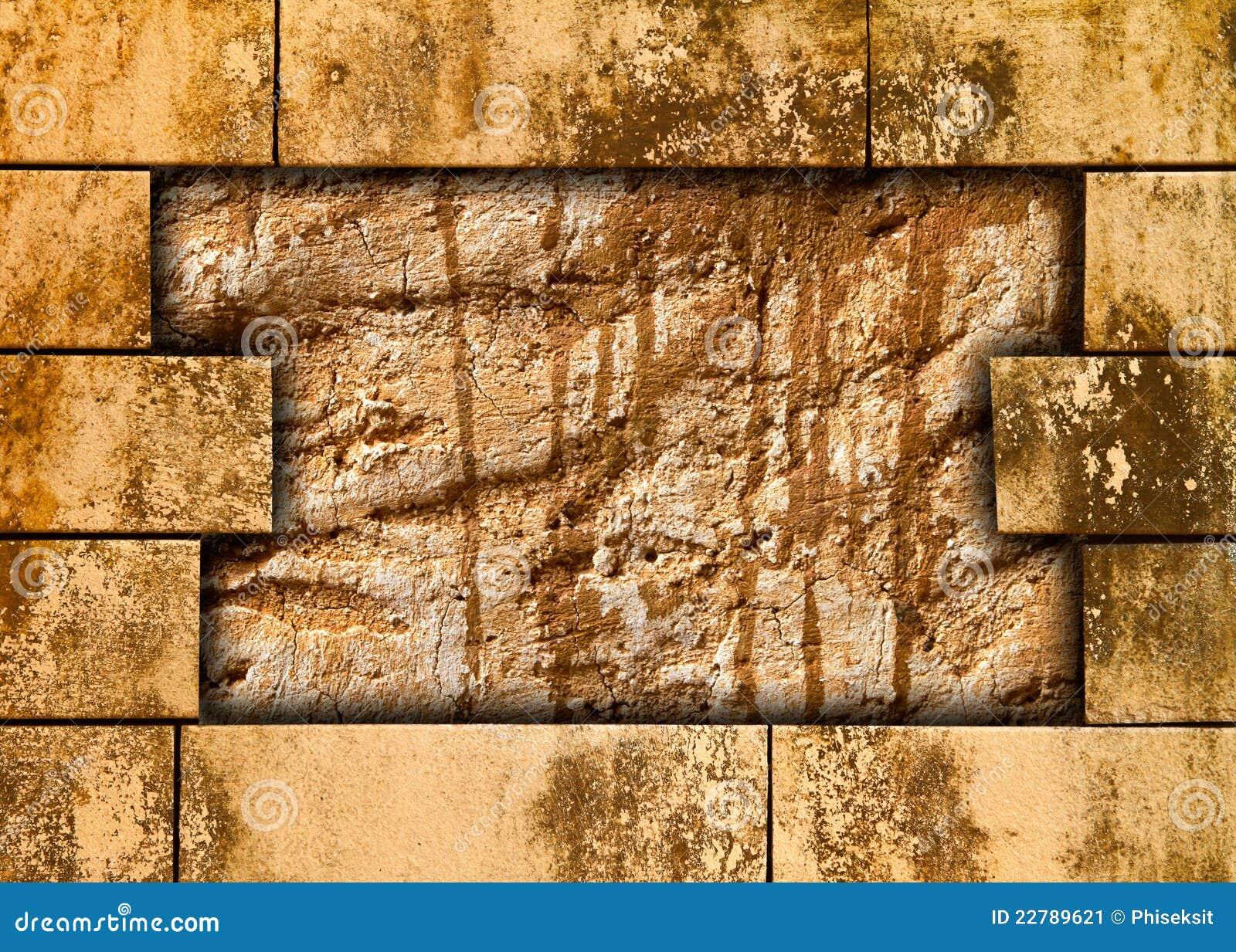 λεκιασμένοι τούβλο τοίχοι