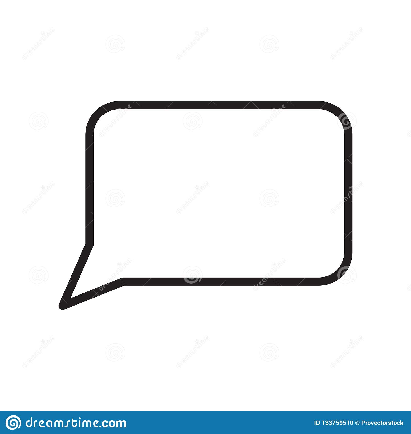 Λεκτικών φυσαλίδων σημάδι και σύμβολο εικονιδίων διανυσματικό που απομονώνονται στο άσπρο υπόβαθρο, έννοια λογότυπων λεκτικών φυσ