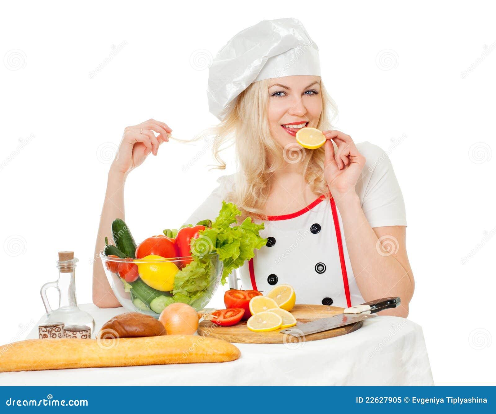 λεμόνι κοριτσιών μαγείρων