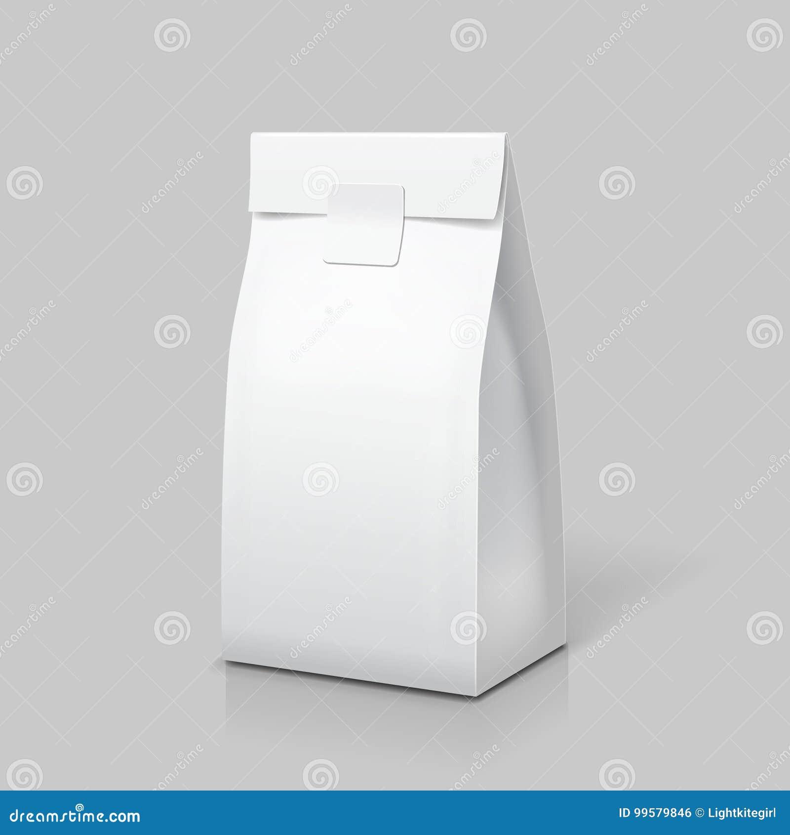 7de82e6e5b Λεπτή συσκευασία τσαντών εγγράφου Άσπρο κενό πακέτο για τα τρόφιμα ...