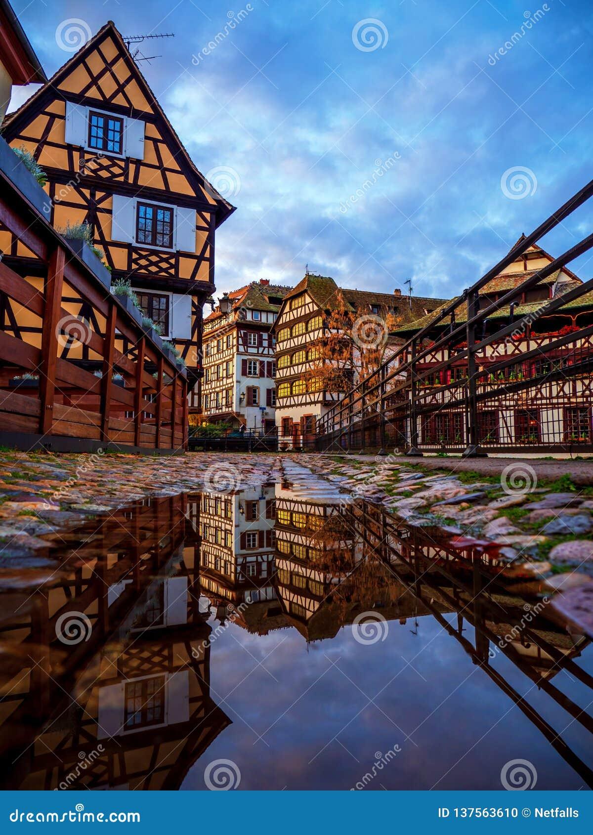 Λεπτοκαμωμένη περιοχή της Γαλλίας στο Στρασβούργο