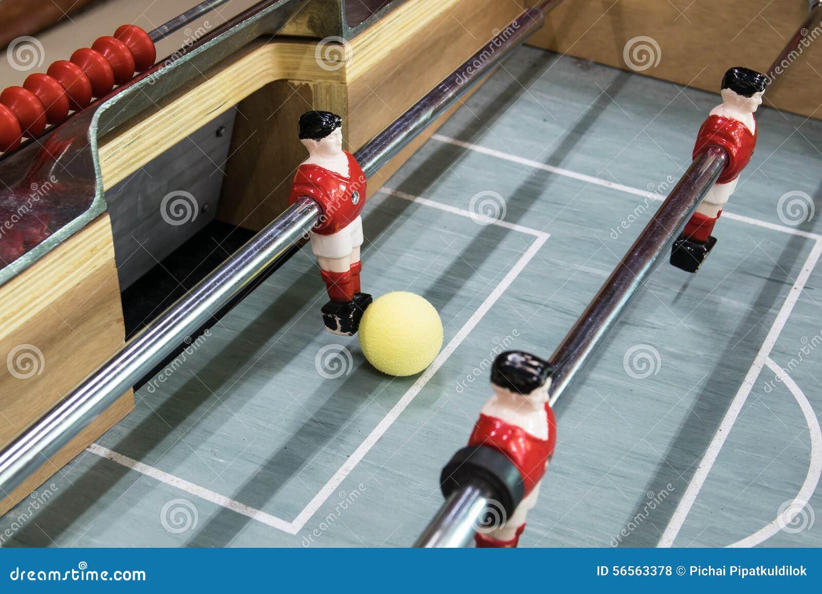 Download Λεπτομέρεια ενός παιχνιδιού επιτραπέζιου ποδοσφαίρου Στοκ Εικόνες - εικόνα από tabletop, ανταγωνισμός: 56563378