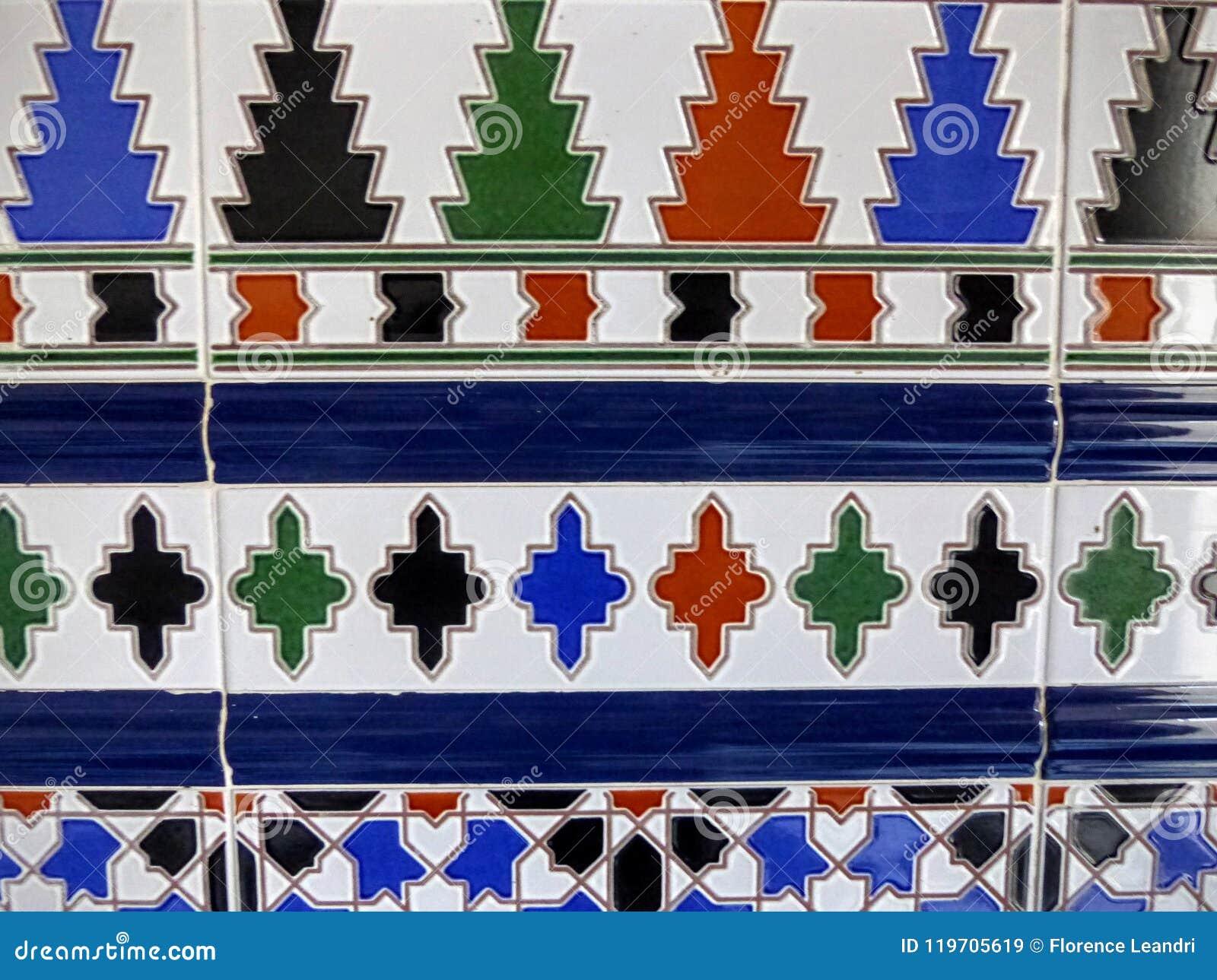 Λεπτομέρεια ενός χρωματισμένου κεραμιδιού χαρακτηριστικού της Ανδαλουσίας στην Ισπανία