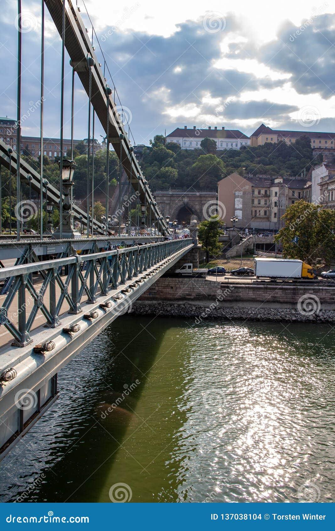Λεπτομέρειες άποψης της ελευθερίας γέφυρα-Βουδαπέστη