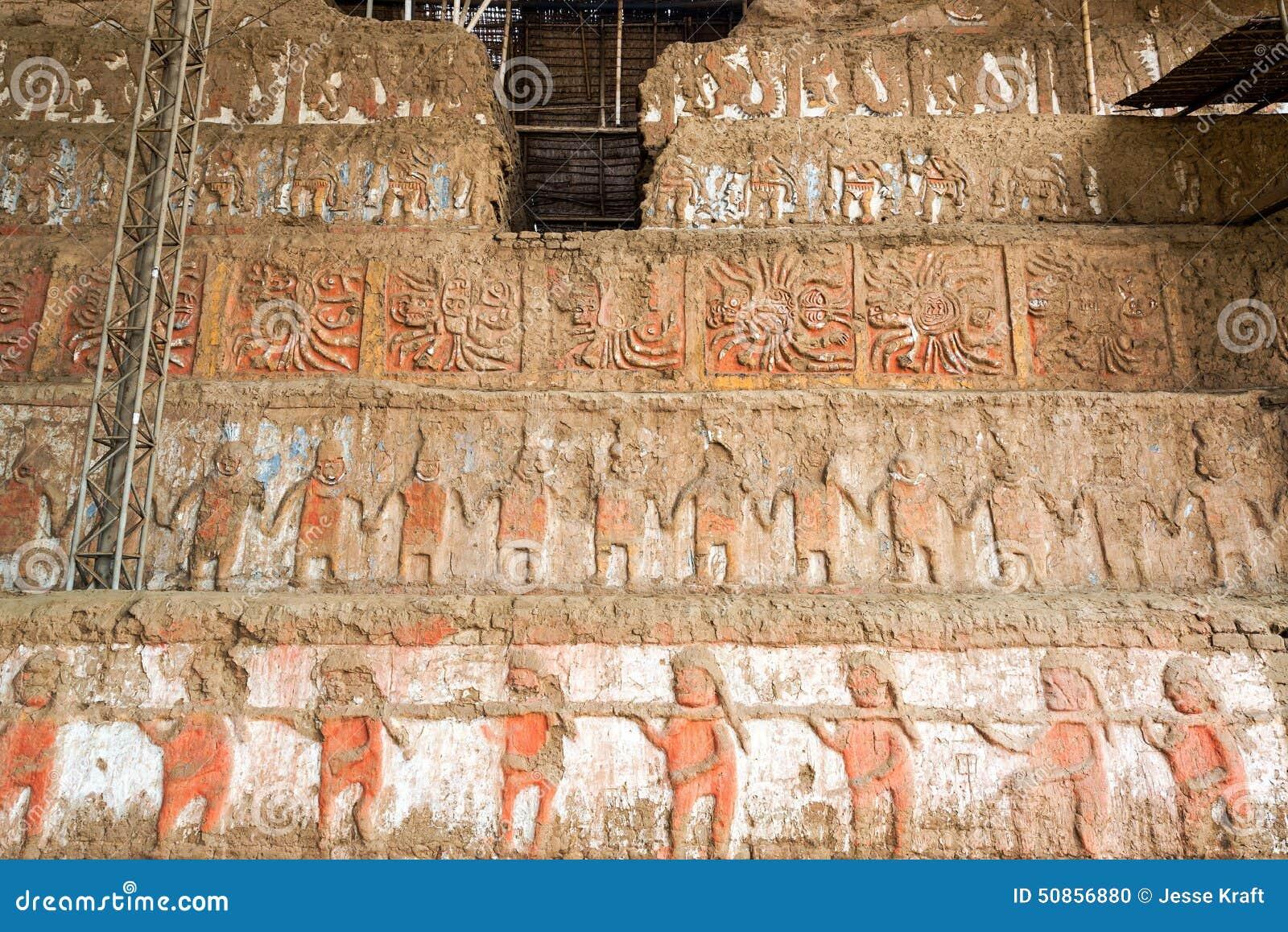 Λεπτομέρειες Huaca de Λα Luna Trujillo, Περού