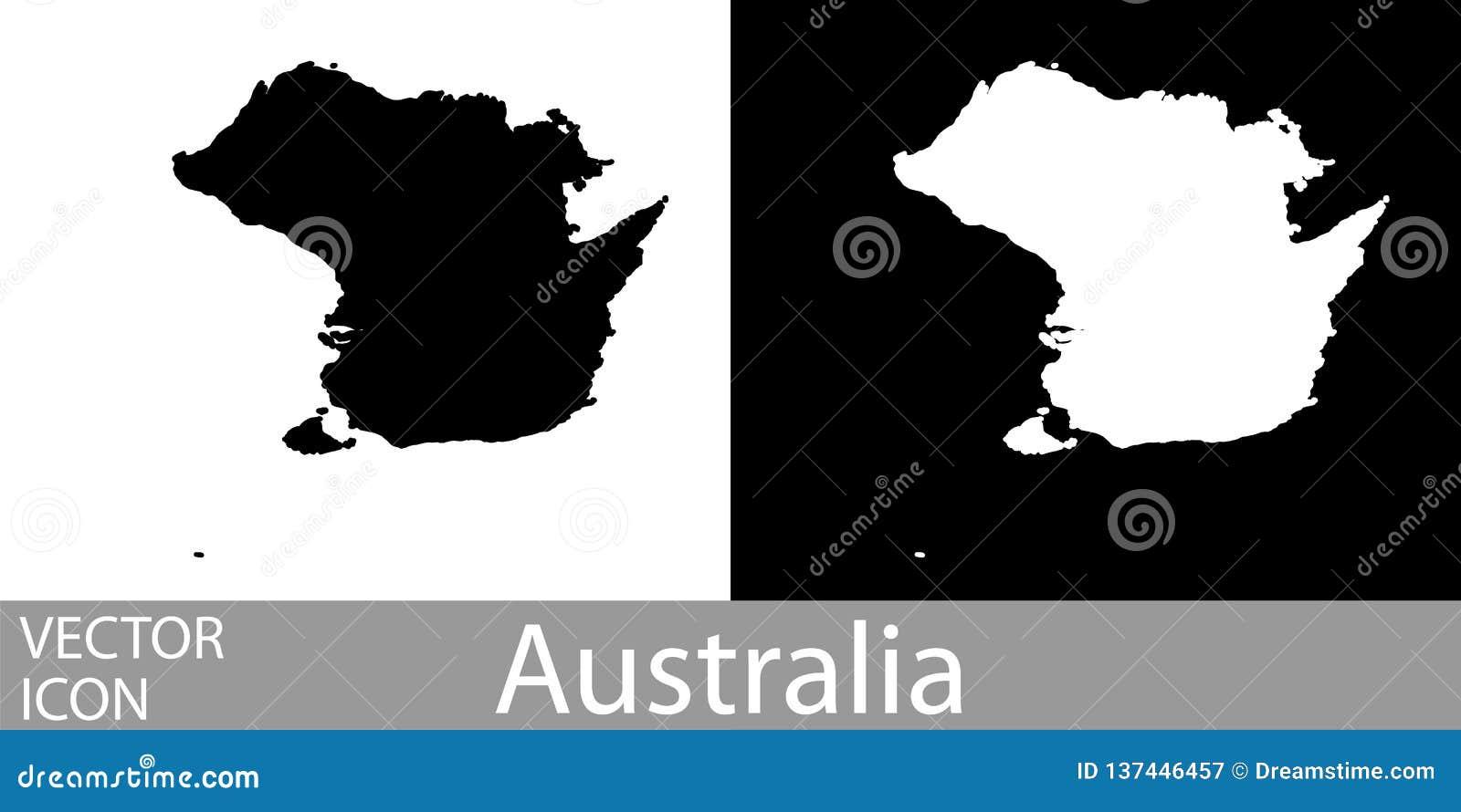 Λεπτομερής η Αυστραλία χάρτης