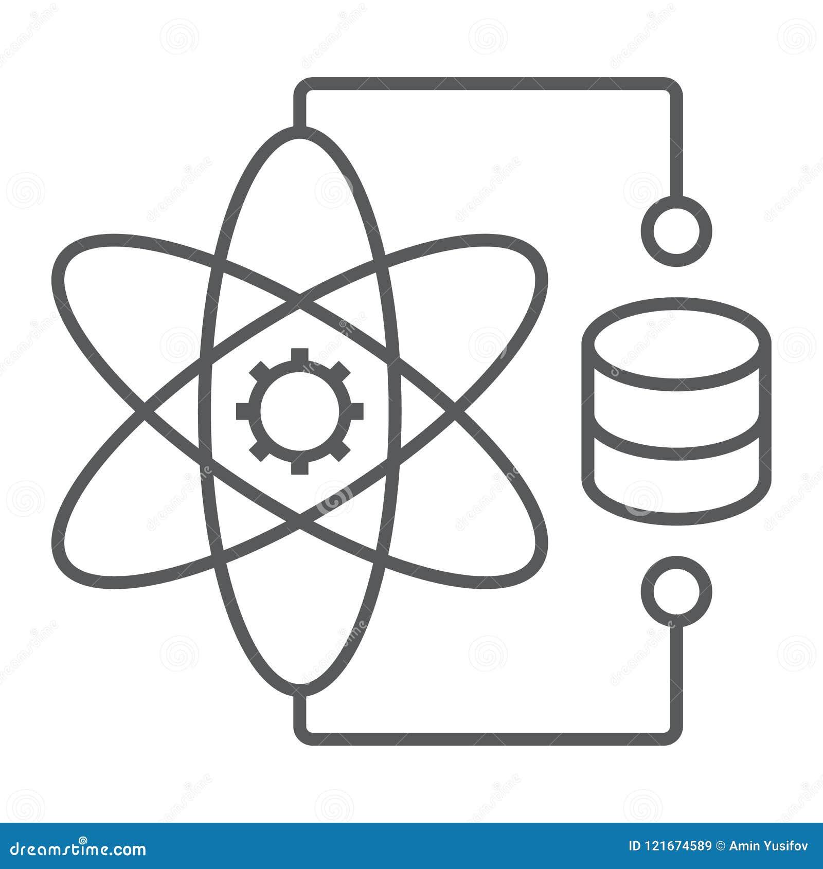 Λεπτό εικονίδιο, στοιχεία και analytics γραμμών επιστήμης στοιχείων