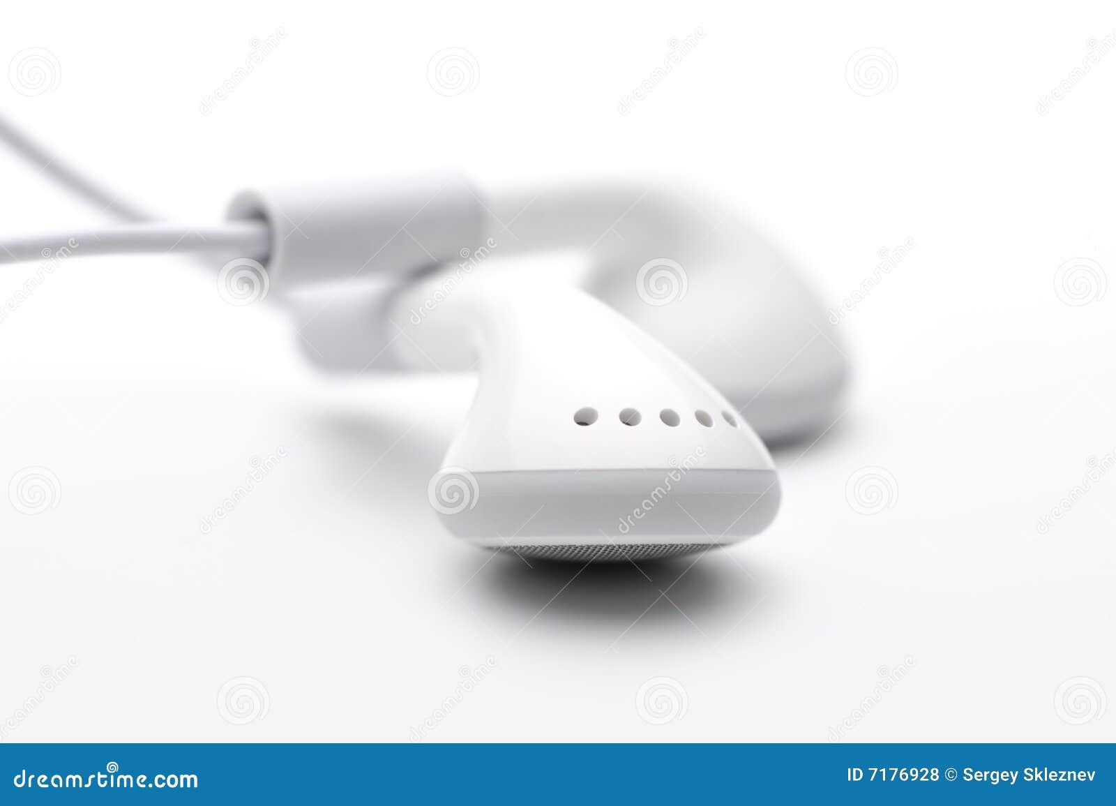 λευκό ακουστικών