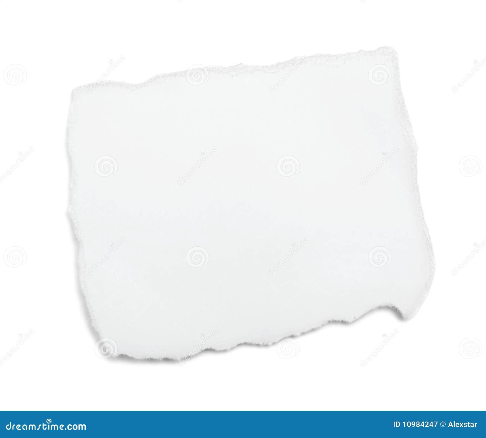 λευκό κομματιού εγγράφ&omicron