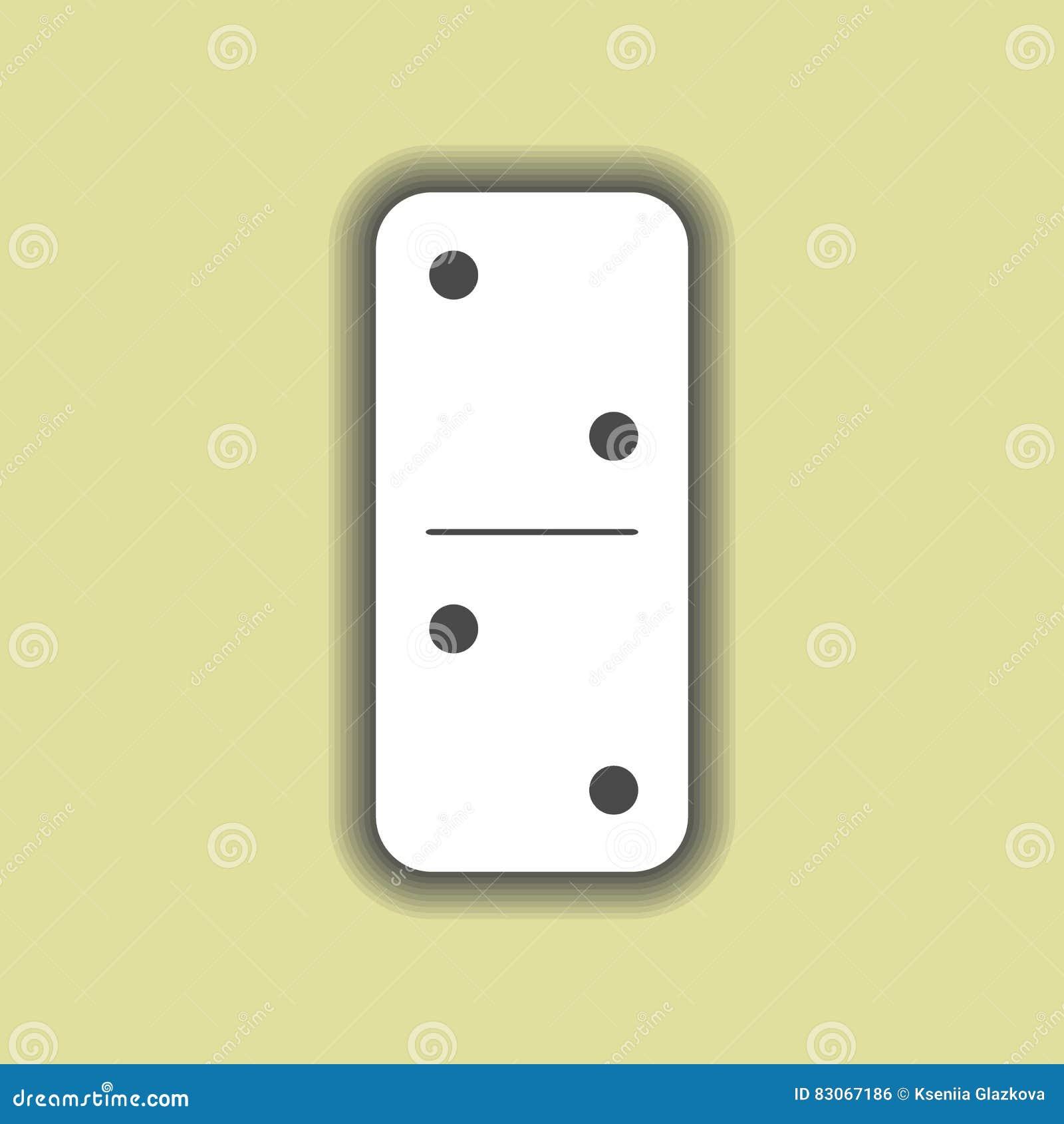 Λευκό ντόμινο δύο και στο υπόβαθρο