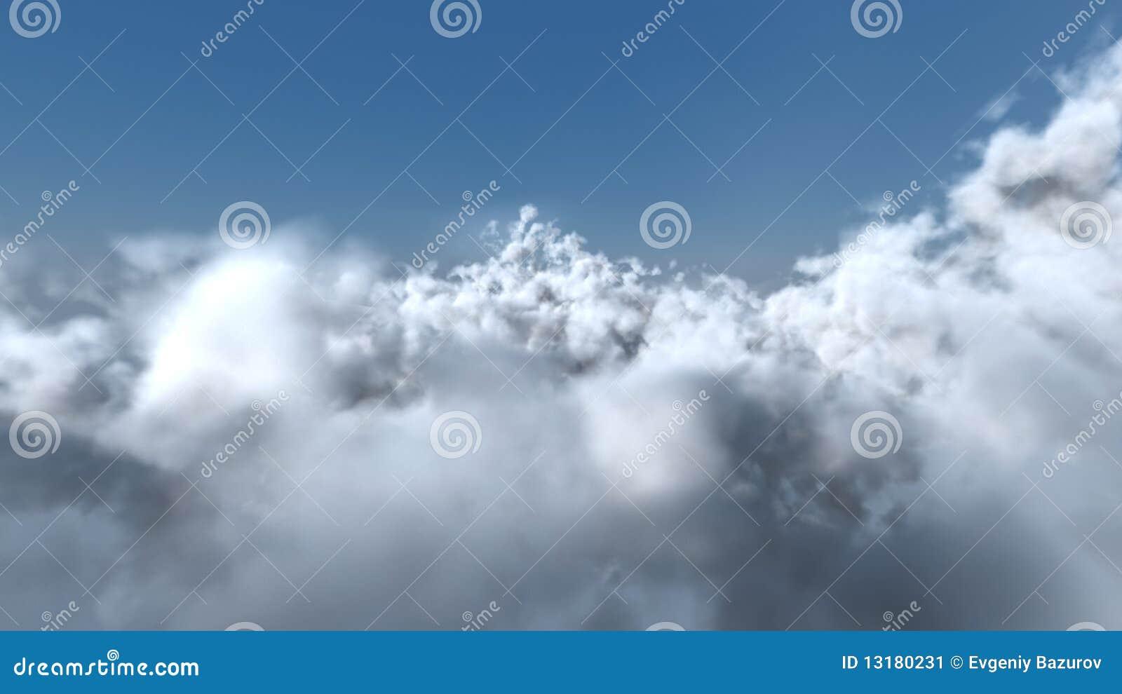 λευκό πτήσης σύννεφων