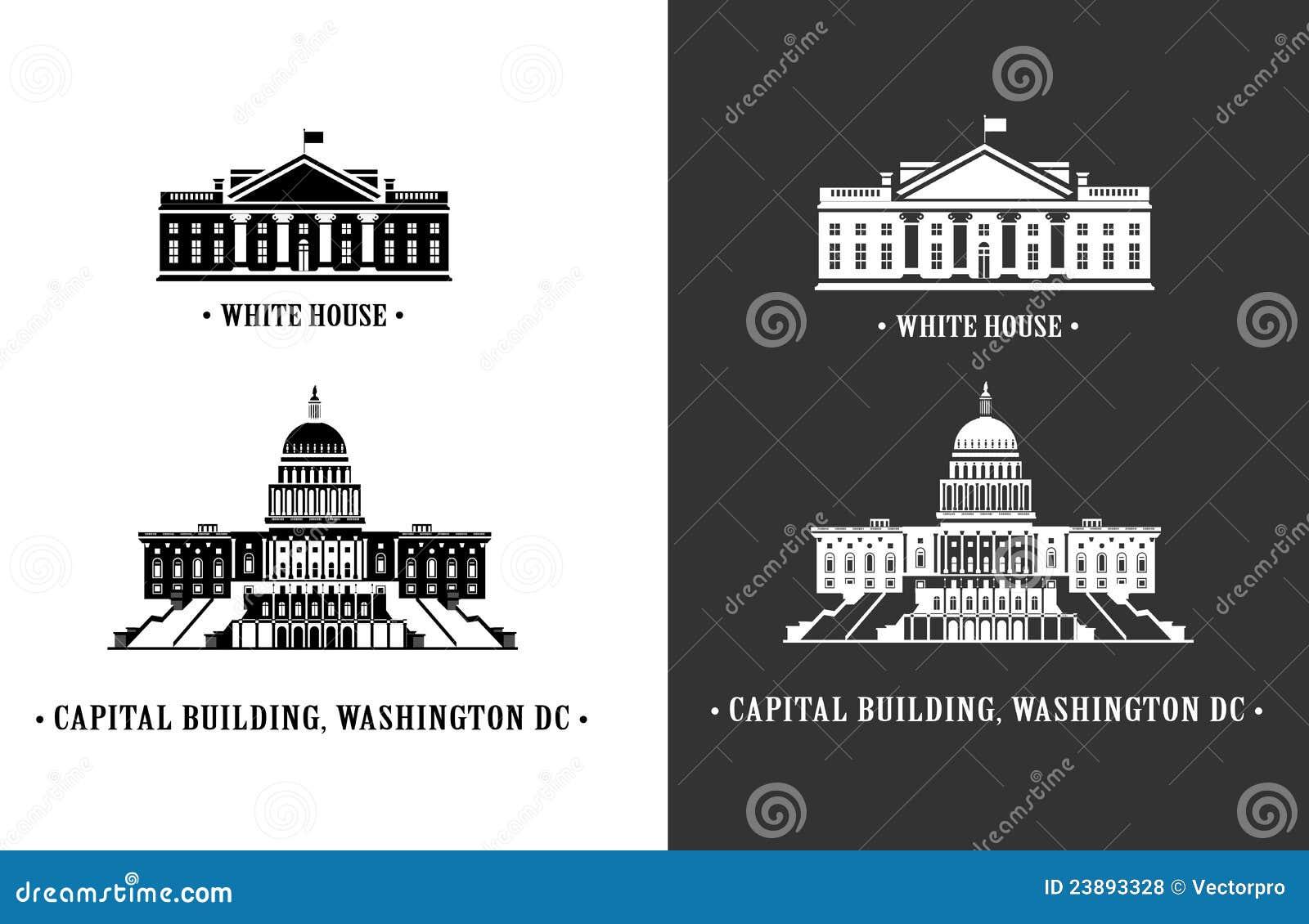 λευκό της Ουάσιγκτον σπιτιών capitol οικοδόμησης