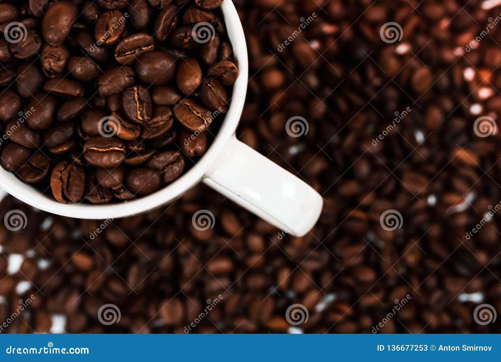 λευκό φλυτζανιών καφέ φασ Χρήση ως υπόβαθρο