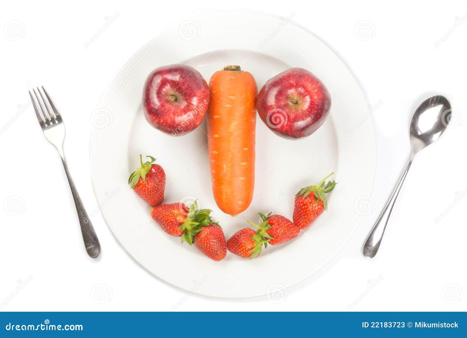 λευκό χαμόγελου πιάτων