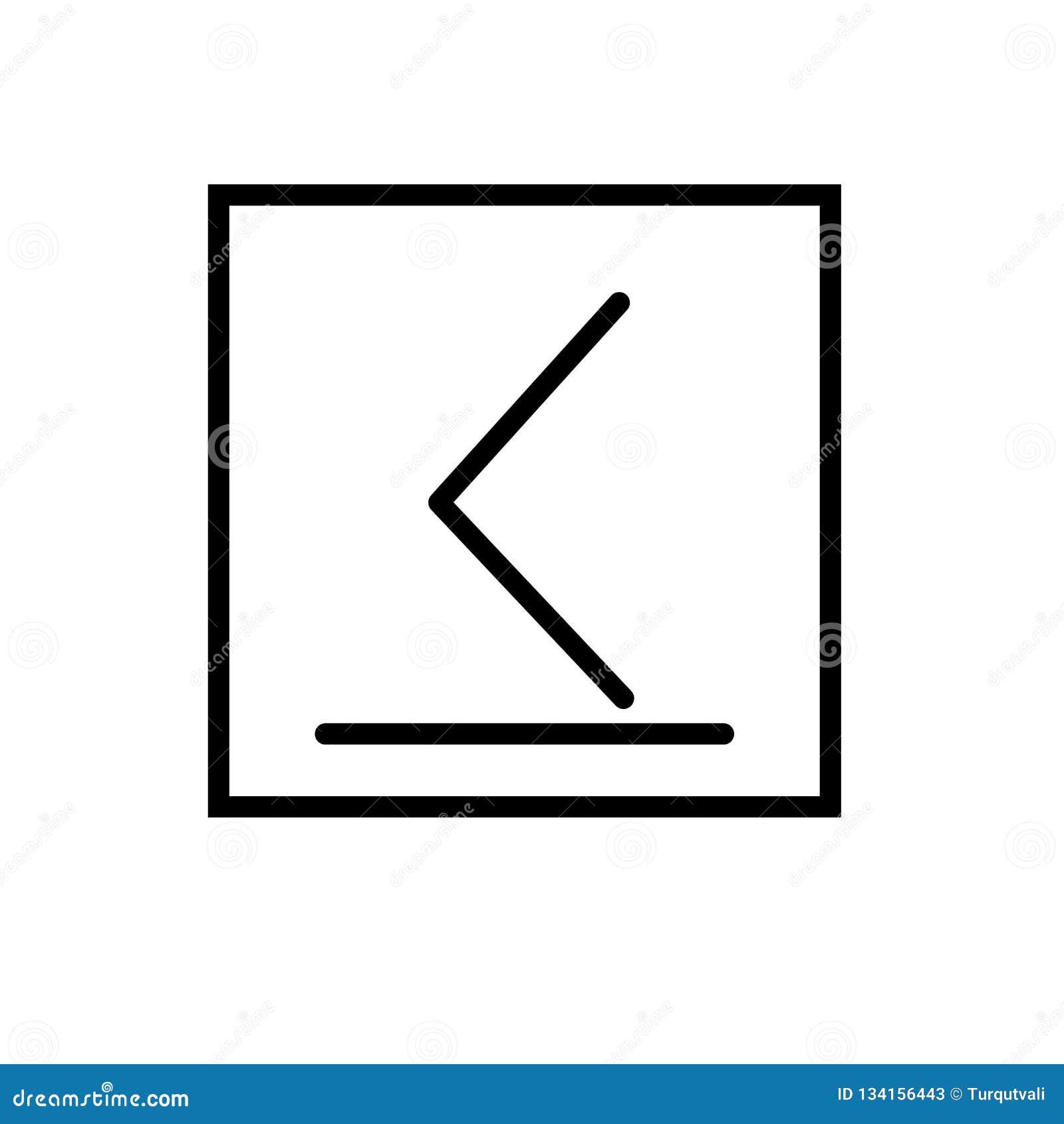 Λιγότερο ή ίσο προς διάνυσμα εικονιδίων που απομονώνεται στο άσπρο υπόβαθρο, είναι λιγότερο ή ίσο προς σύμβολο, γραμμή και περιγρ