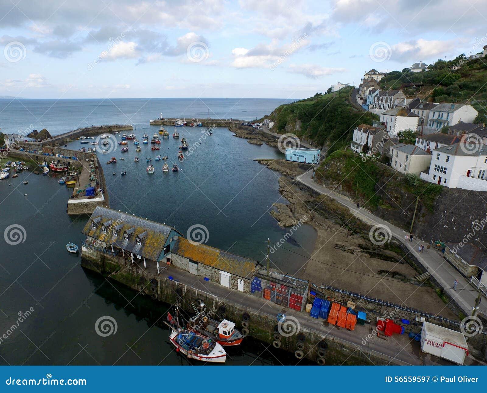 Download Λιμάνι αλιείας Mevergissey στοκ εικόνα. εικόνα από πλάνο - 56559597