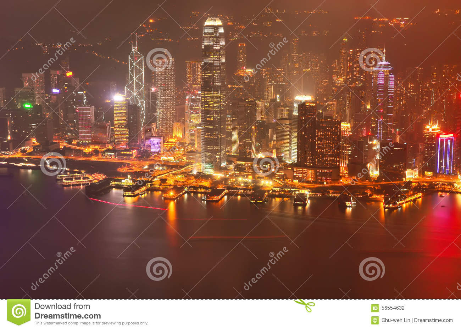 Download Λιμάνι Βικτώριας και ορίζοντας Χονγκ Κονγκ Στοκ Εικόνες - εικόνα από αποβάθρα, πανοραμικός: 56554632