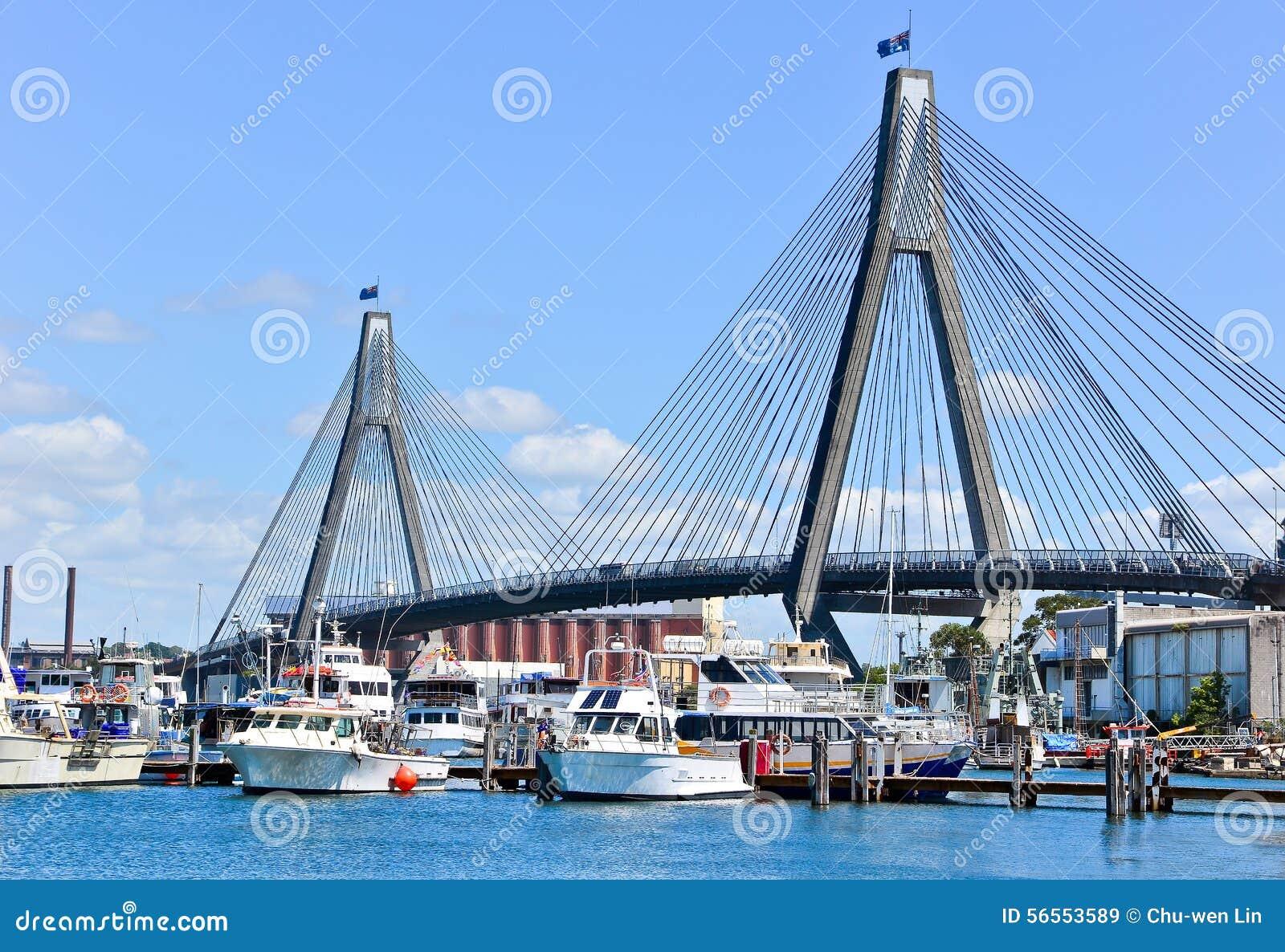 Download Λιμάνι του Σίδνεϊ στο Σίδνεϊ Στοκ Εικόνα - εικόνα από μητρόπολη, μονοπάτι: 56553589