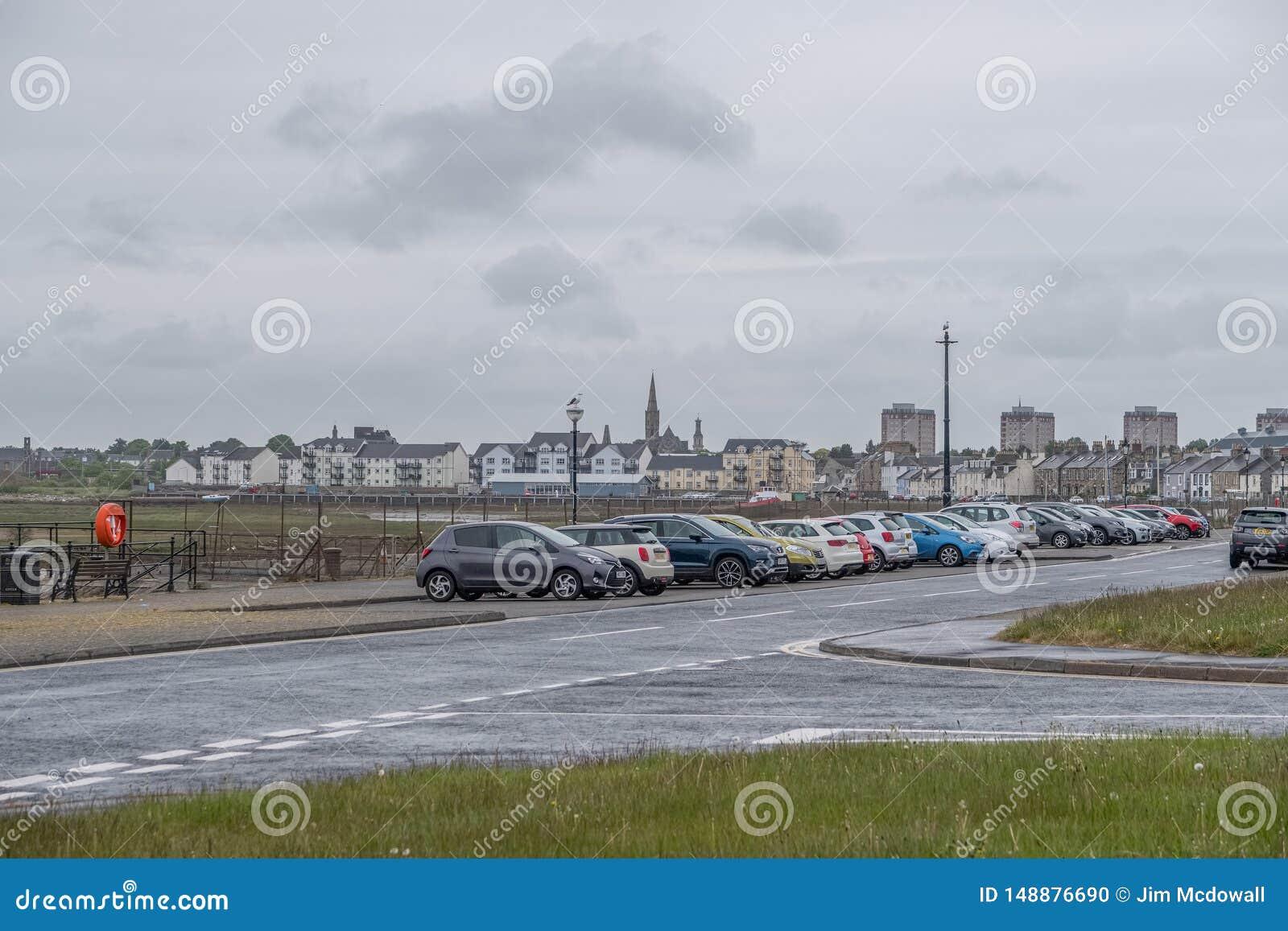 Λιμάνι Irvine στο Ayrshire Σκωτία που κοιτάζει μέσα προς το πόλης κέντρο