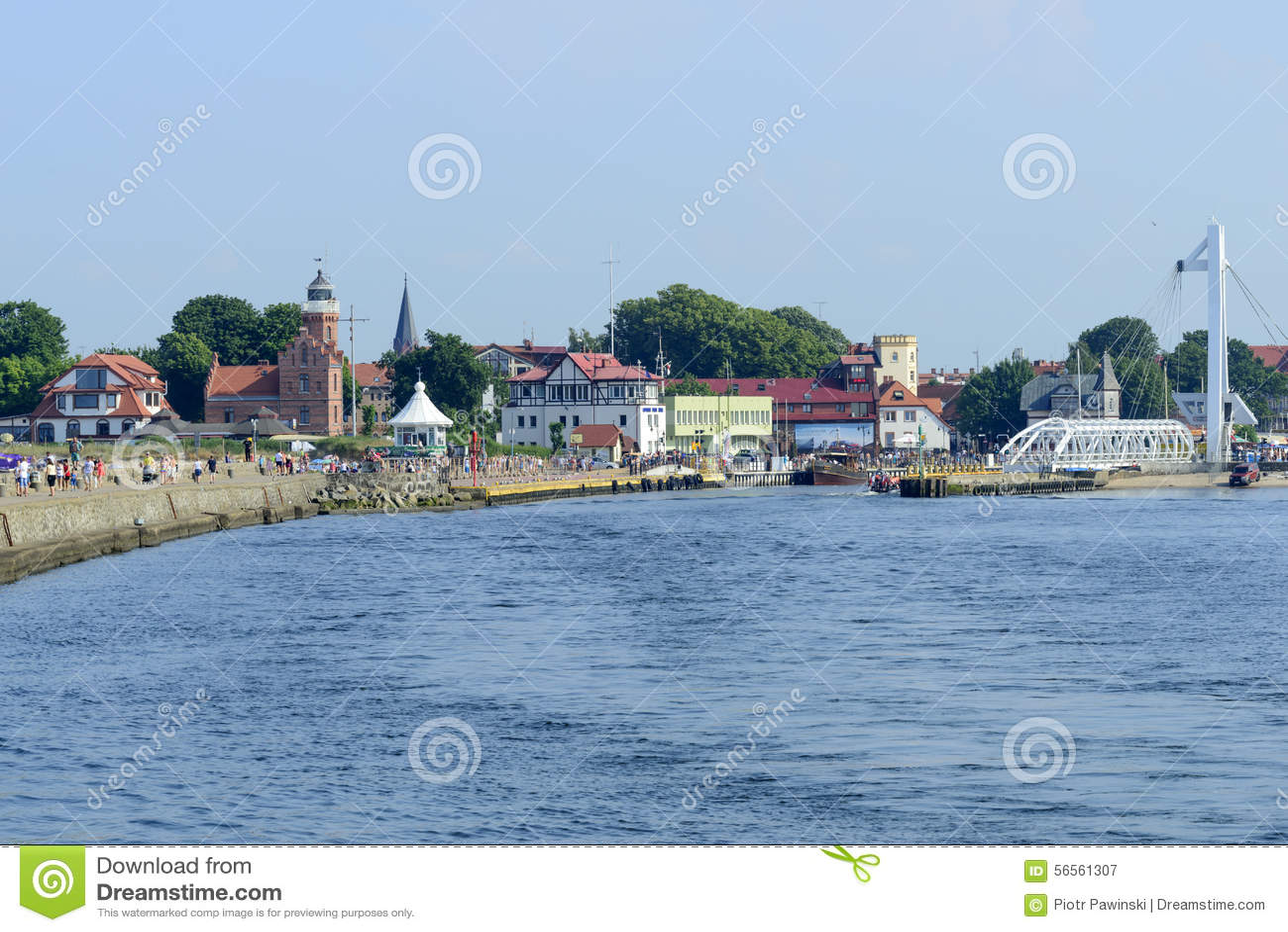 Download Λιμάνι Ustka εκδοτική φωτογραφία. εικόνα από λιμένας - 56561307