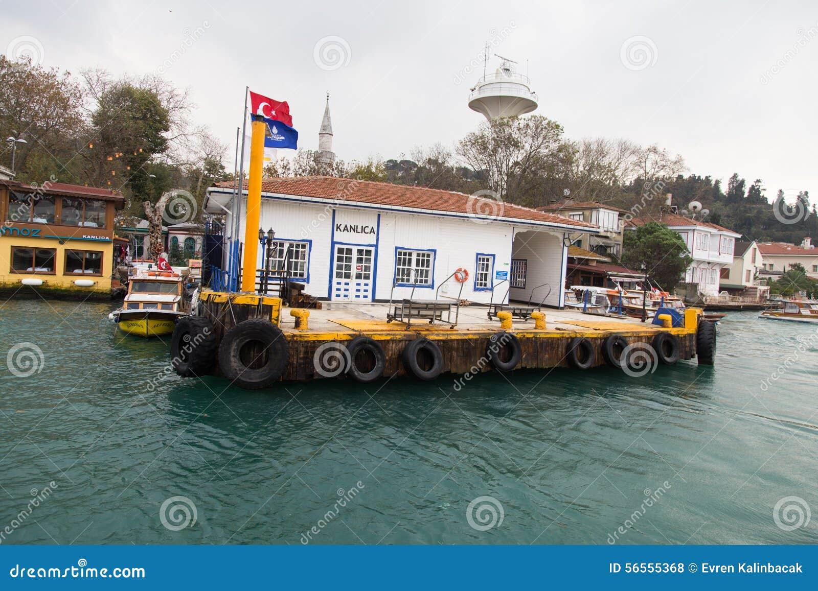 Download Λιμένας πορθμείων Kanlica εκδοτική στοκ εικόνες. εικόνα από επιβάτης - 56555368