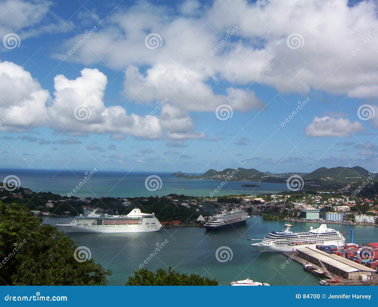λιμένας ST της Λουκία cruiseship