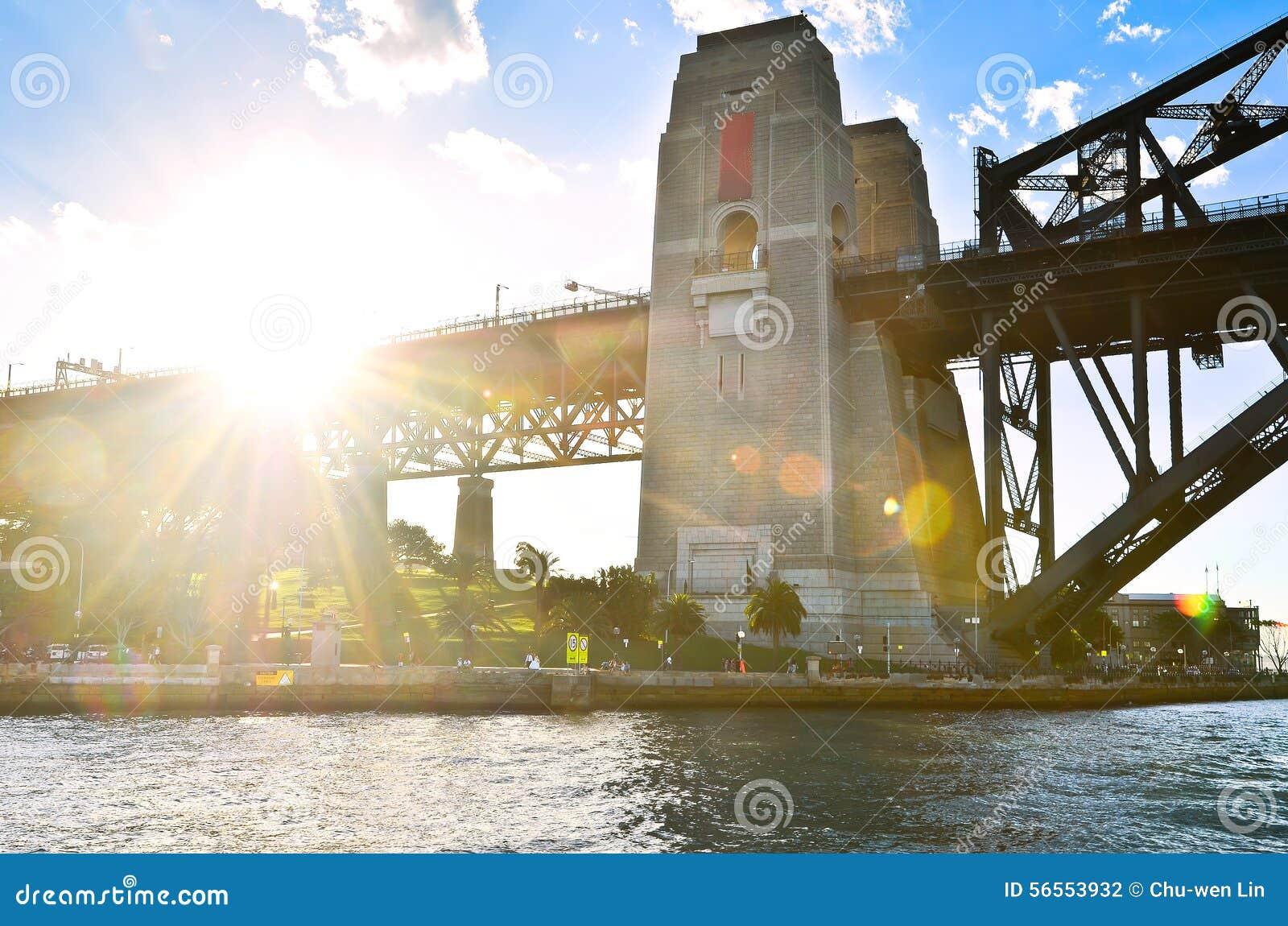 Download Λιμενική γέφυρα του Σίδνεϊ στο ηλιοβασίλεμα Στοκ Εικόνες - εικόνα από νέος, προγεφυρωμάτων: 56553932