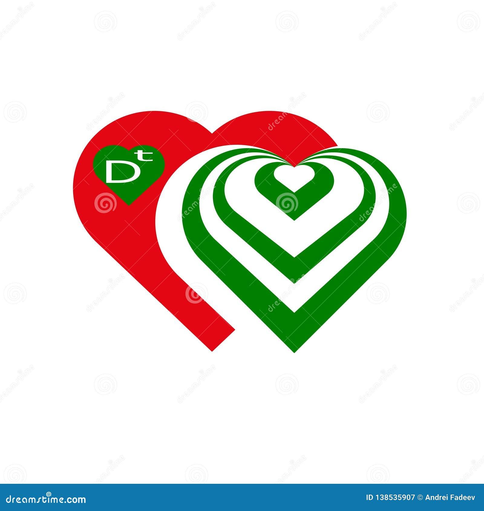 ΛΟΓΟΤΥΠΟ Κόκκινος πράσινος καρδιών