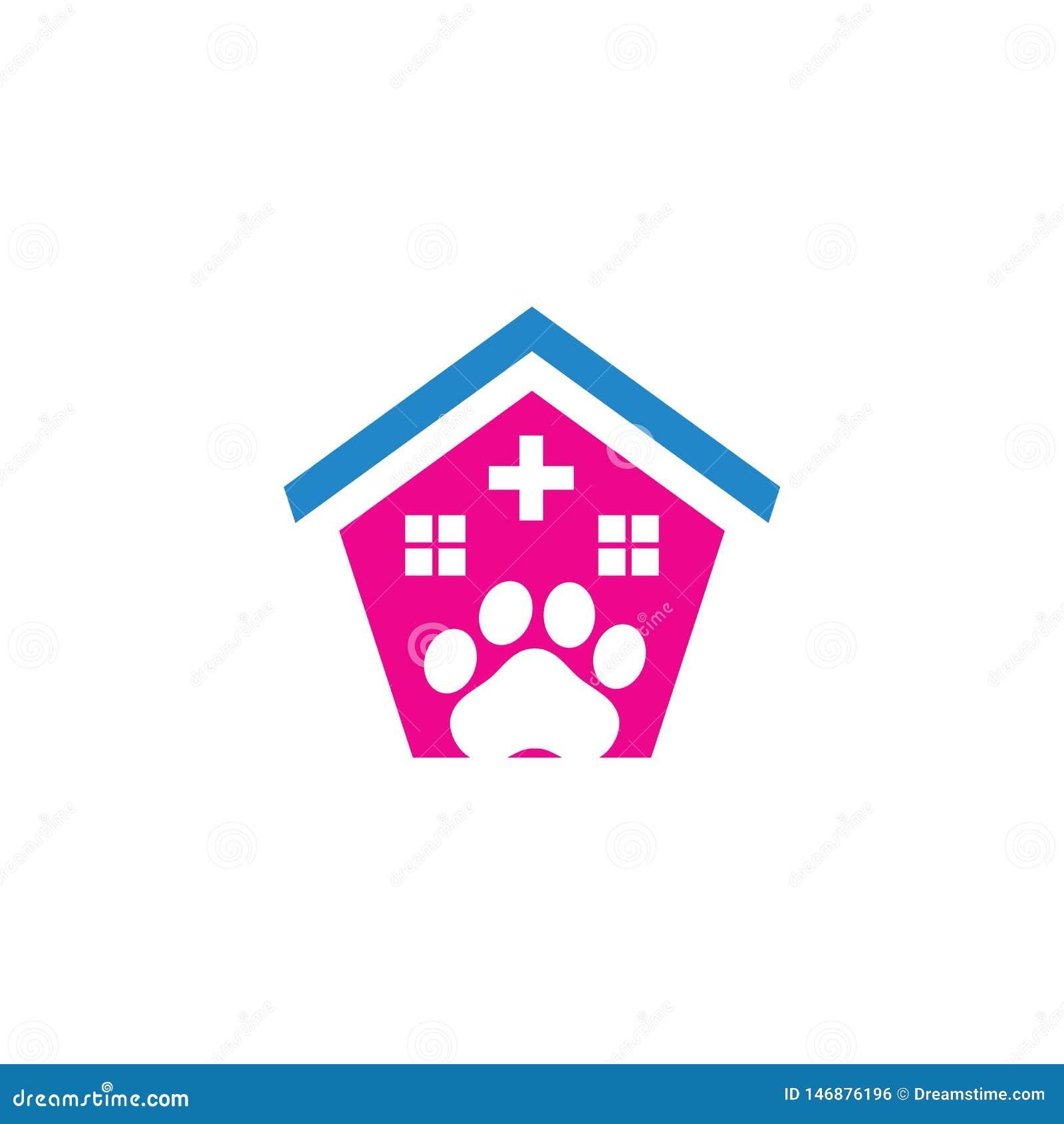 Λογότυπο κλινικών προσοχής καταστημάτων της Pet