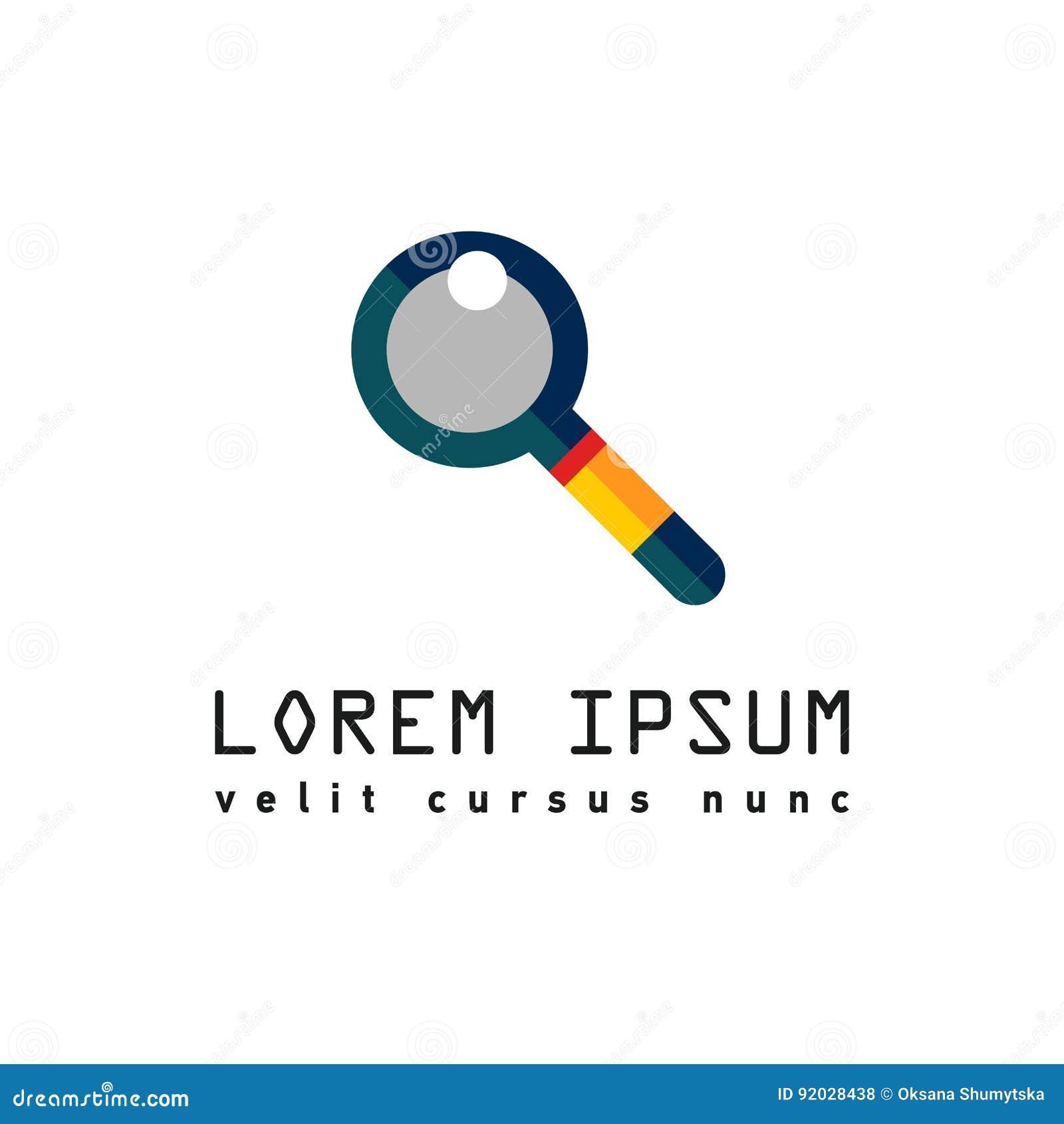 Λογότυπο με πιό magnifier για την αναζήτηση