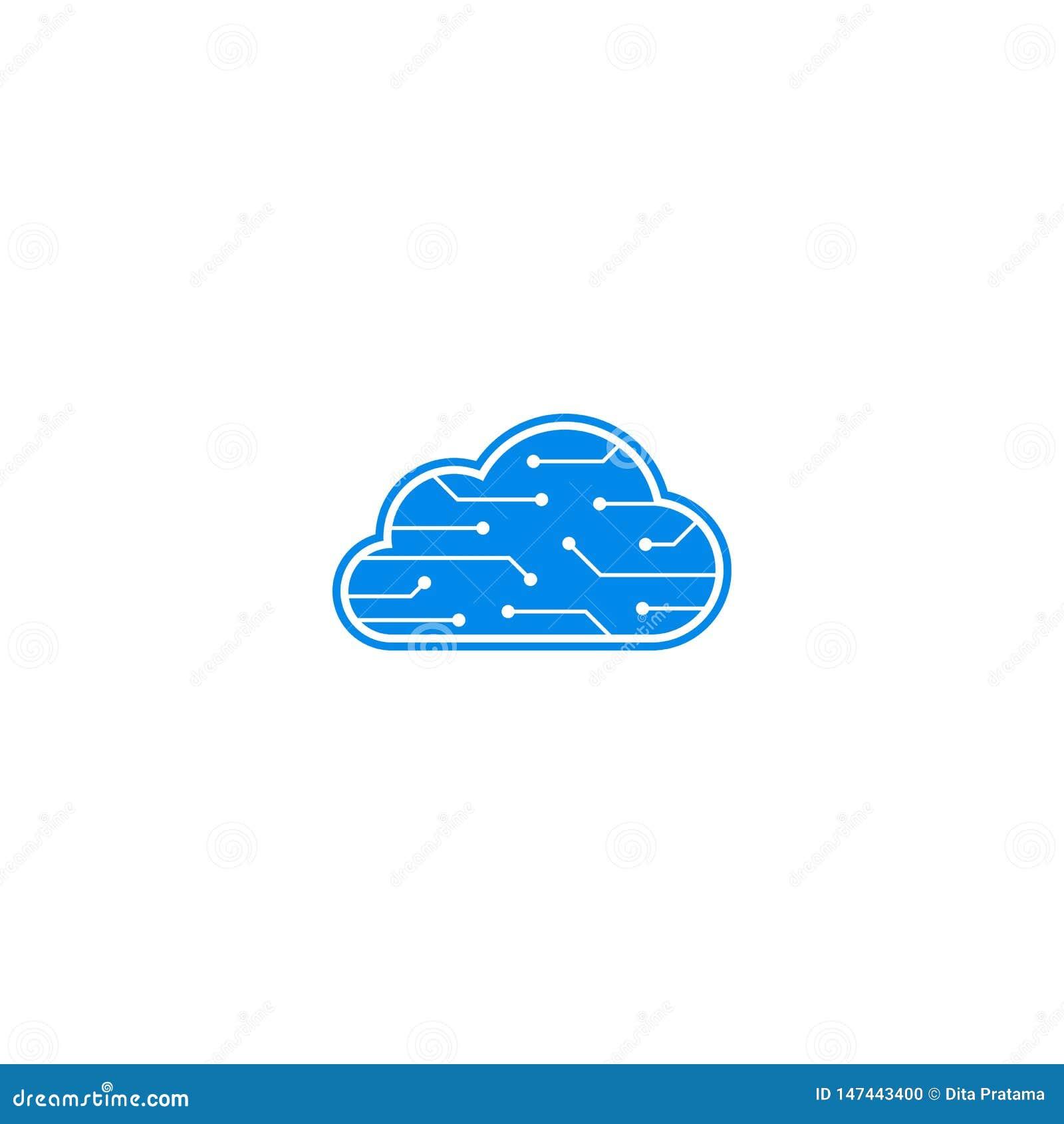 Λογότυπο στοιχείων εγκεφάλου υπολογιστών