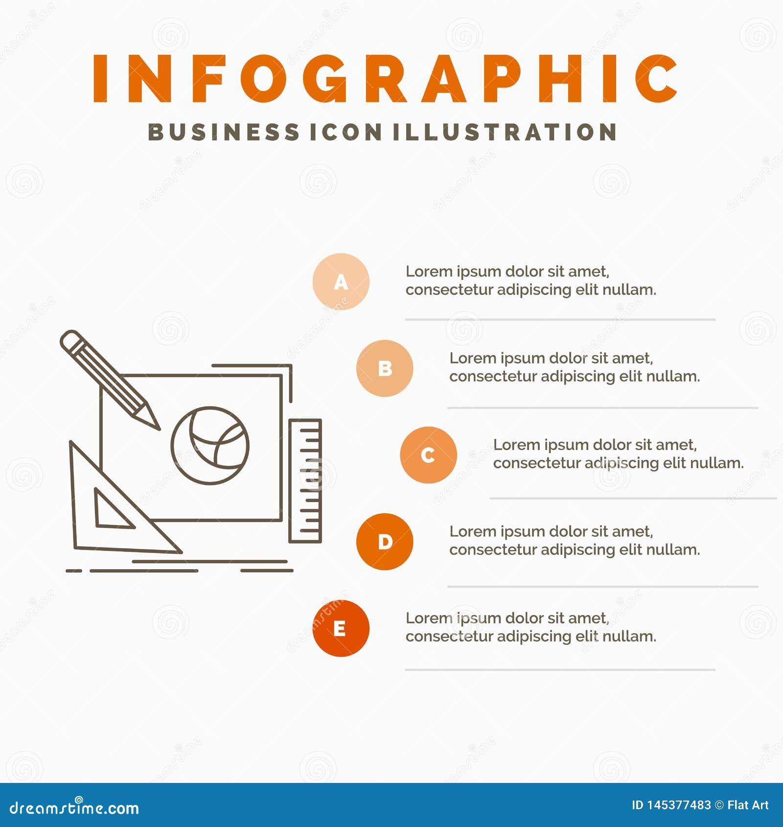 λογότυπο, σχέδιο, δημιουργικός, ιδέα, πρότυπο Infographics διαδικασίας σχεδίου για τον ιστοχώρο και παρουσίαση Γκρίζο εικονίδιο γ
