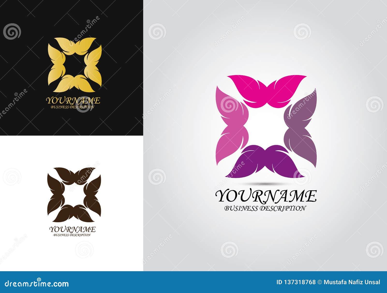 Λογότυπο σχεδίου της Pet πεταλούδων