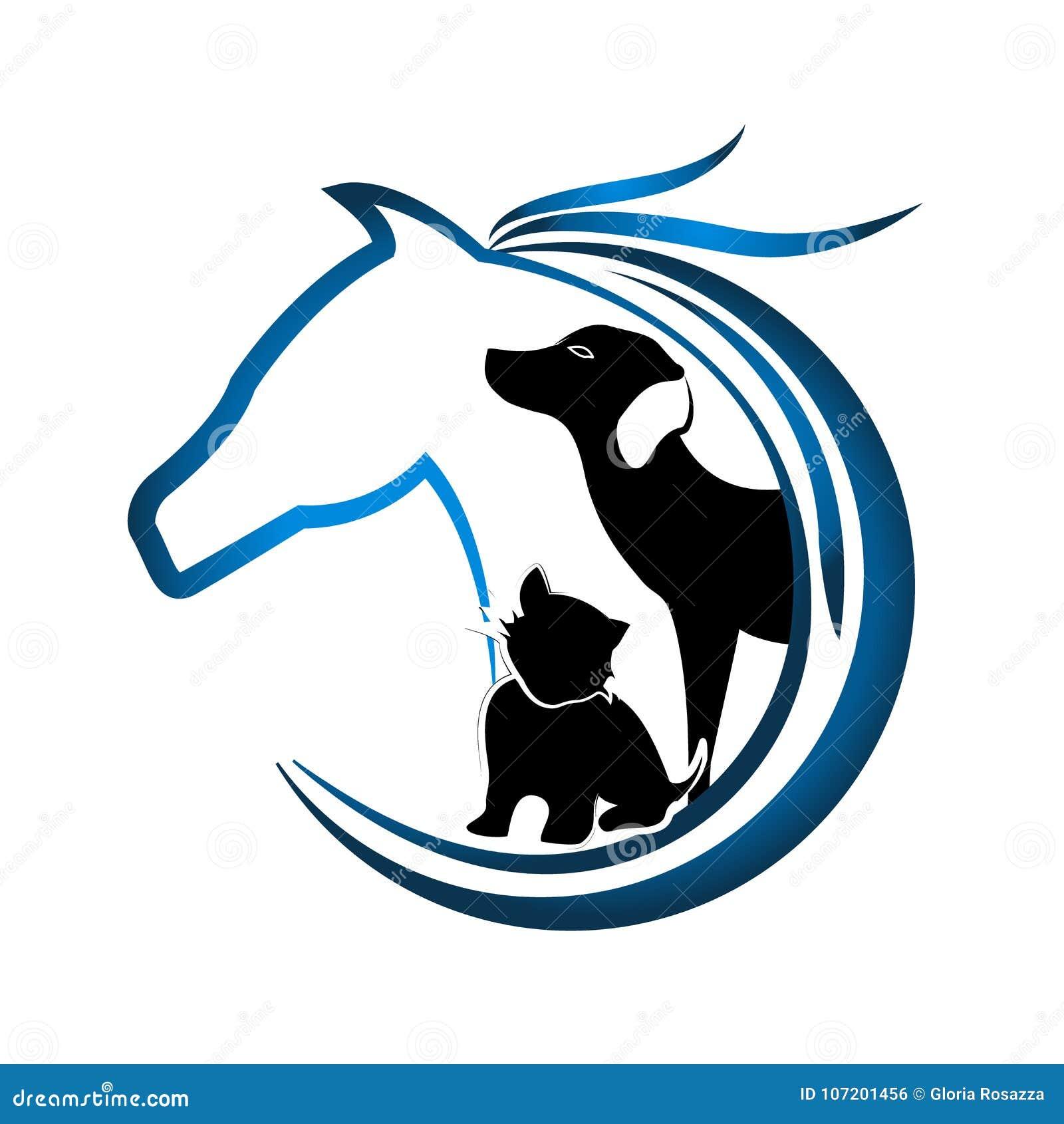 Λογότυπο του αλόγου, του σκυλιού και της γάτας
