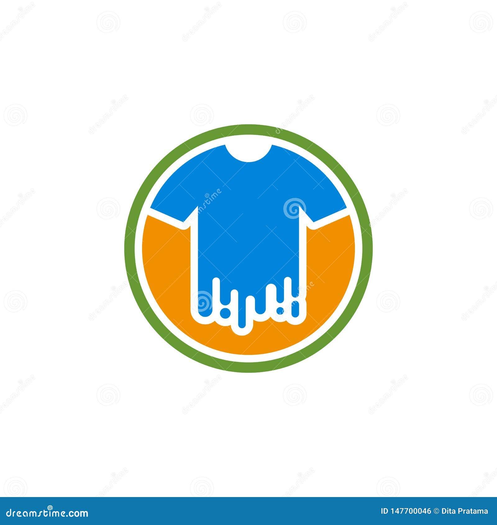 Λογότυπο χρωμάτων μπλουζών