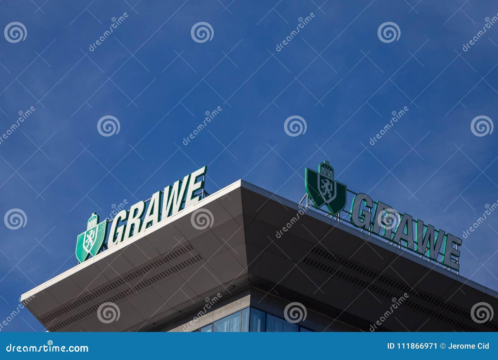 Λογότυπο Grawe στο κύριο γραφείο τους για τη Σερβία Το Grawe, ή Grazer Wechselseitige είναι μια από τη μεγαλύτερη αυστριακή ασφαλ